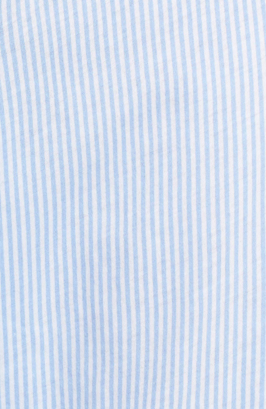 LAUREN RALPH LAUREN, Logo Waistband Lounge Pants, Alternate thumbnail 5, color, STRIPE PALE BLUE/ WHITE