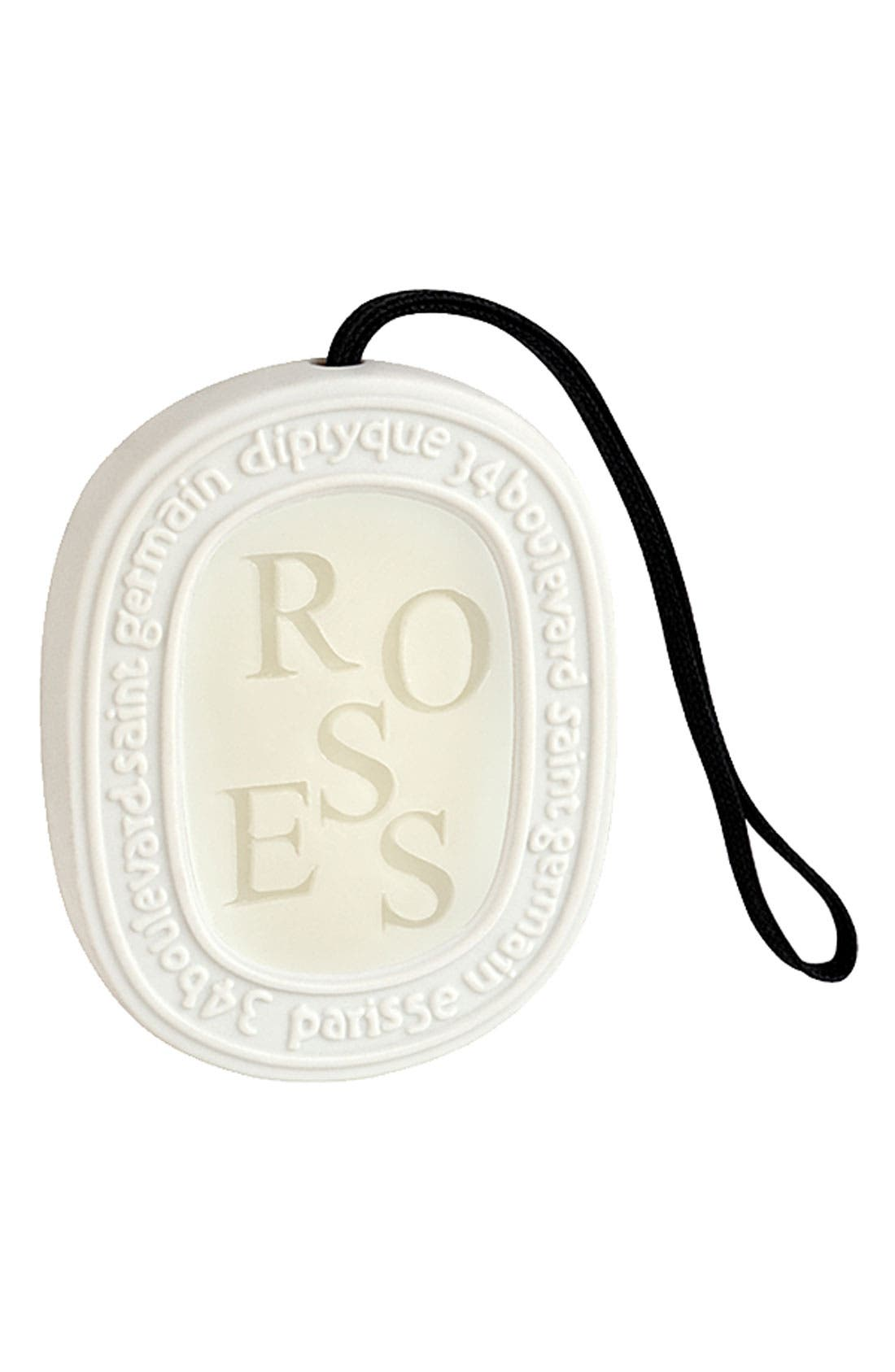 DIPTYQUE, 'Roses' Scented Oval, Main thumbnail 1, color, NO COLOR