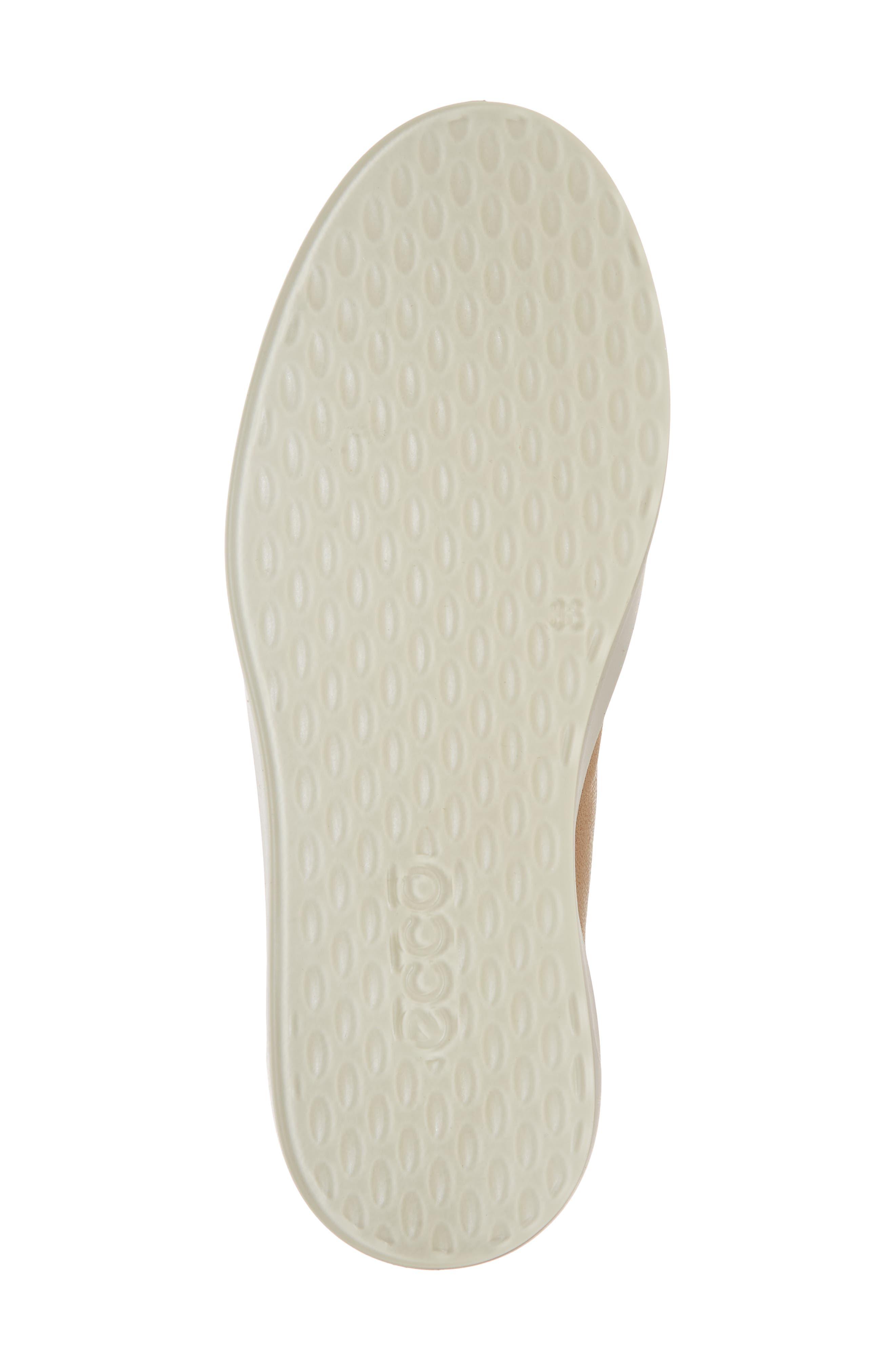 ECCO, Soft 8 Sneaker, Alternate thumbnail 6, color, POWDER LEATHER
