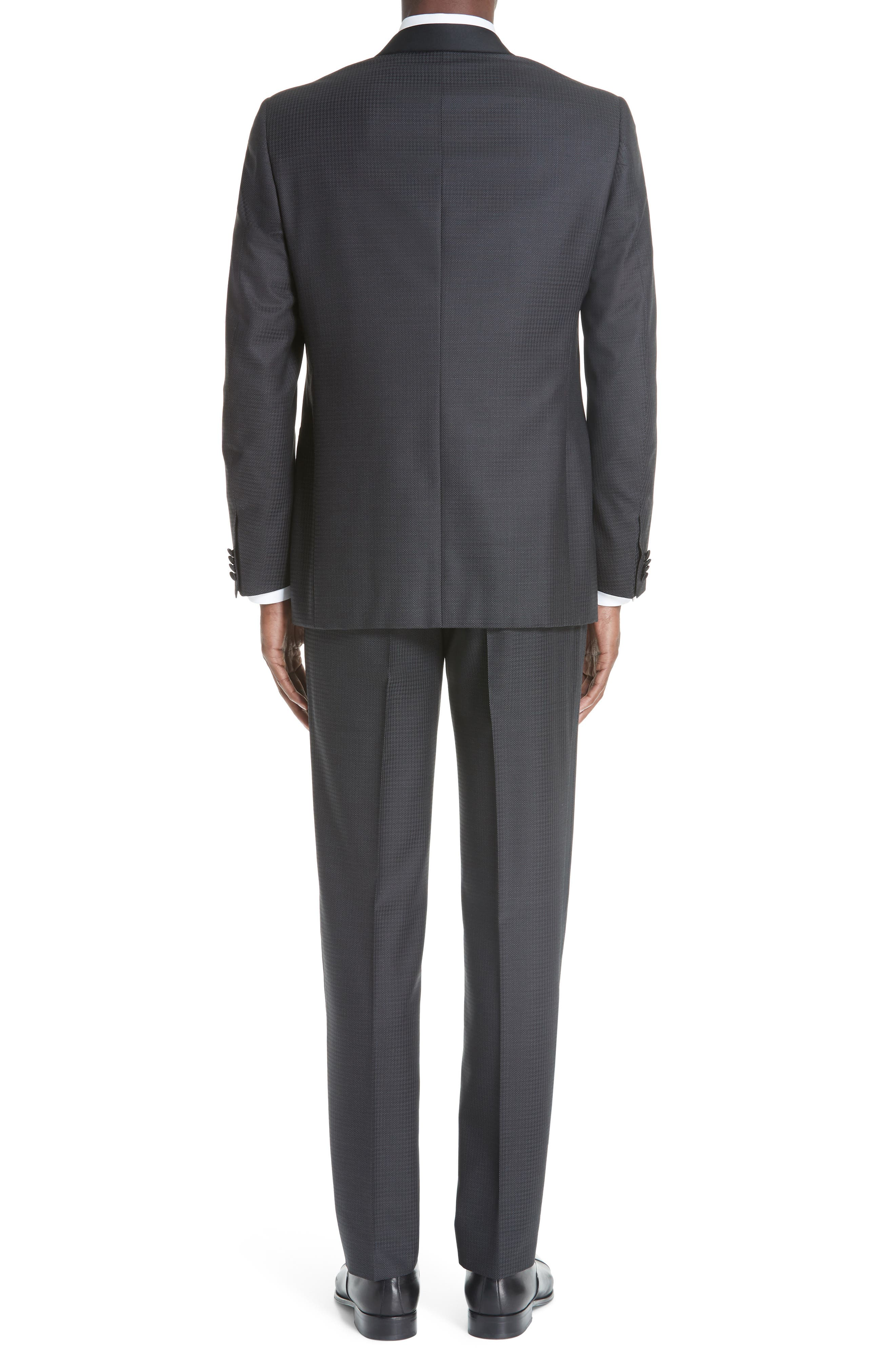 CANALI, Classic Fit Wool Tuxedo, Alternate thumbnail 2, color, CHARCOAL