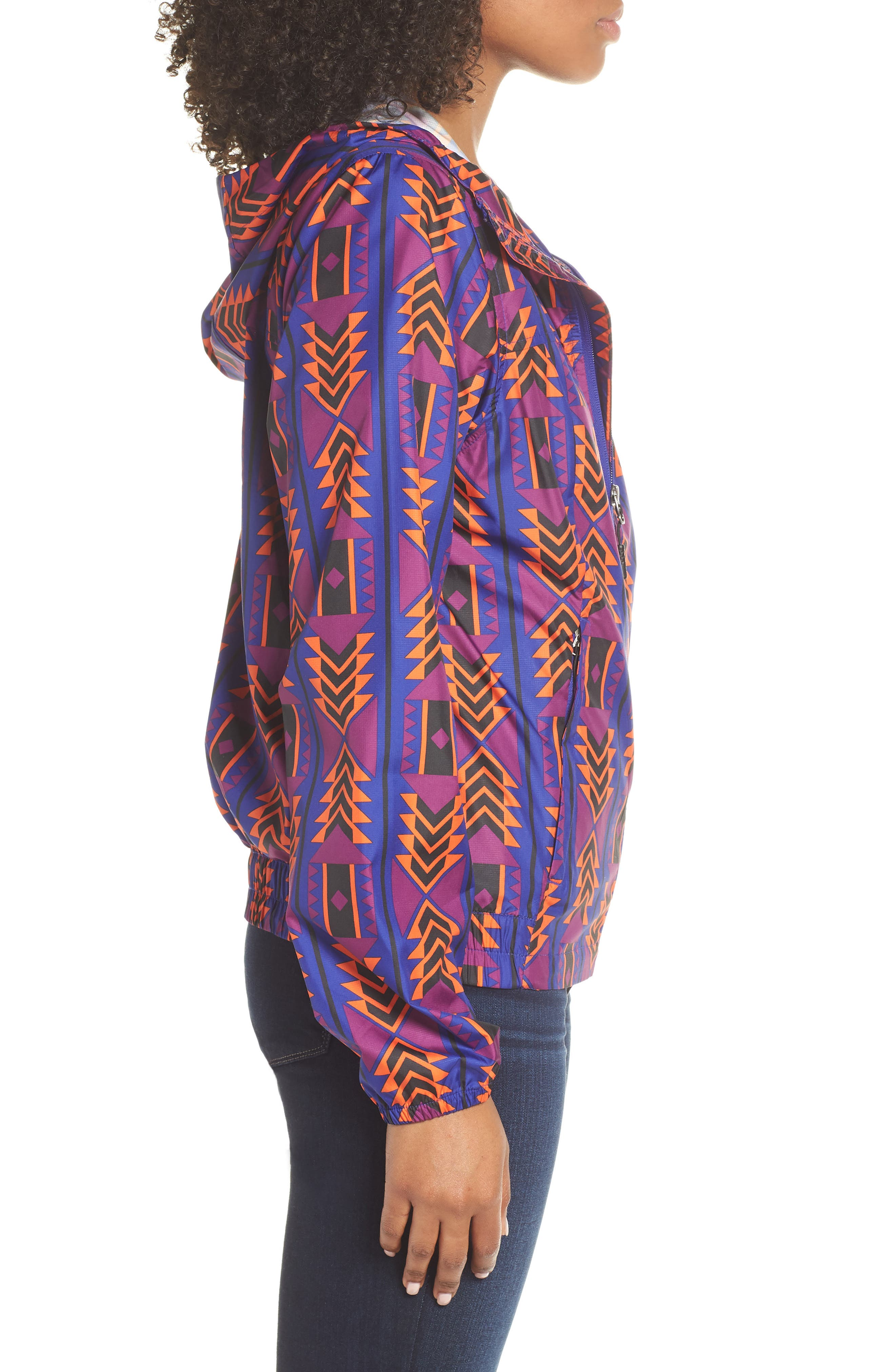 THE NORTH FACE, Print Cyclone 3.0 WindWall<sup>®</sup> Jacket, Alternate thumbnail 4, color, AZTEC BLUE 1992 RAGE PRINT