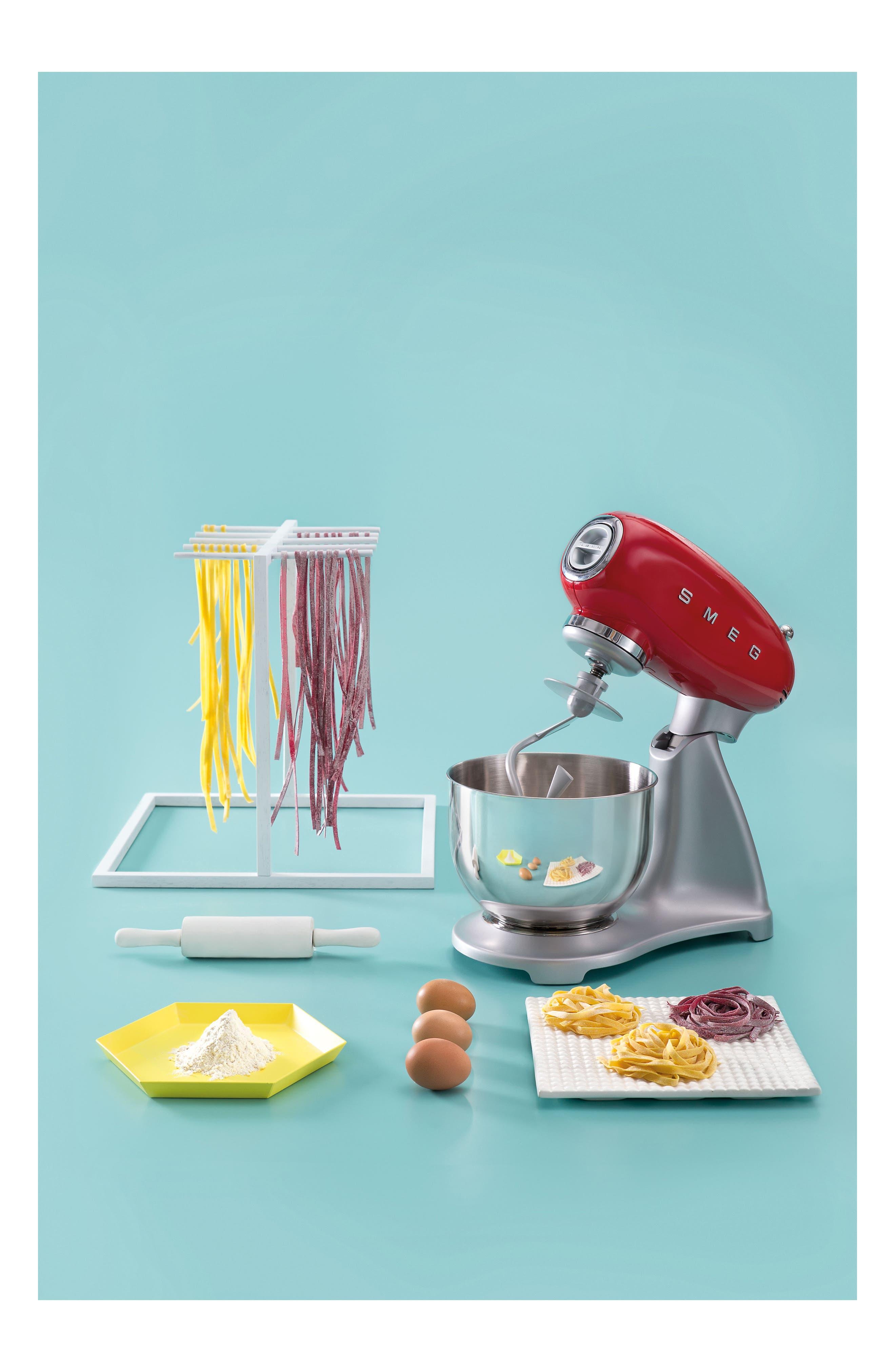 SMEG, '50s Retro Style Five-Quart Stand Mixer, Alternate thumbnail 2, color, RED
