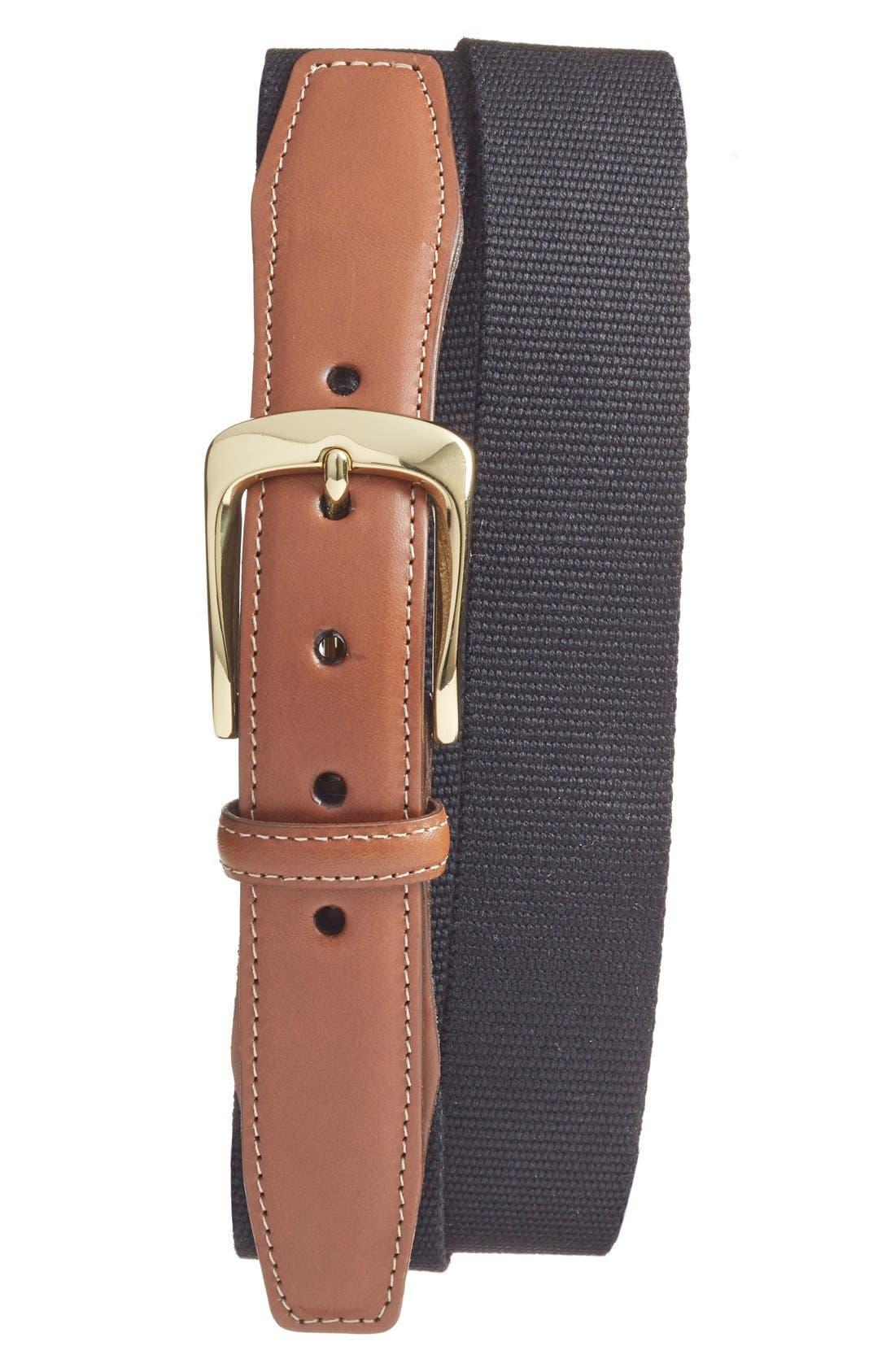 TORINO, European Surcingle Belt, Main thumbnail 1, color, BLACK