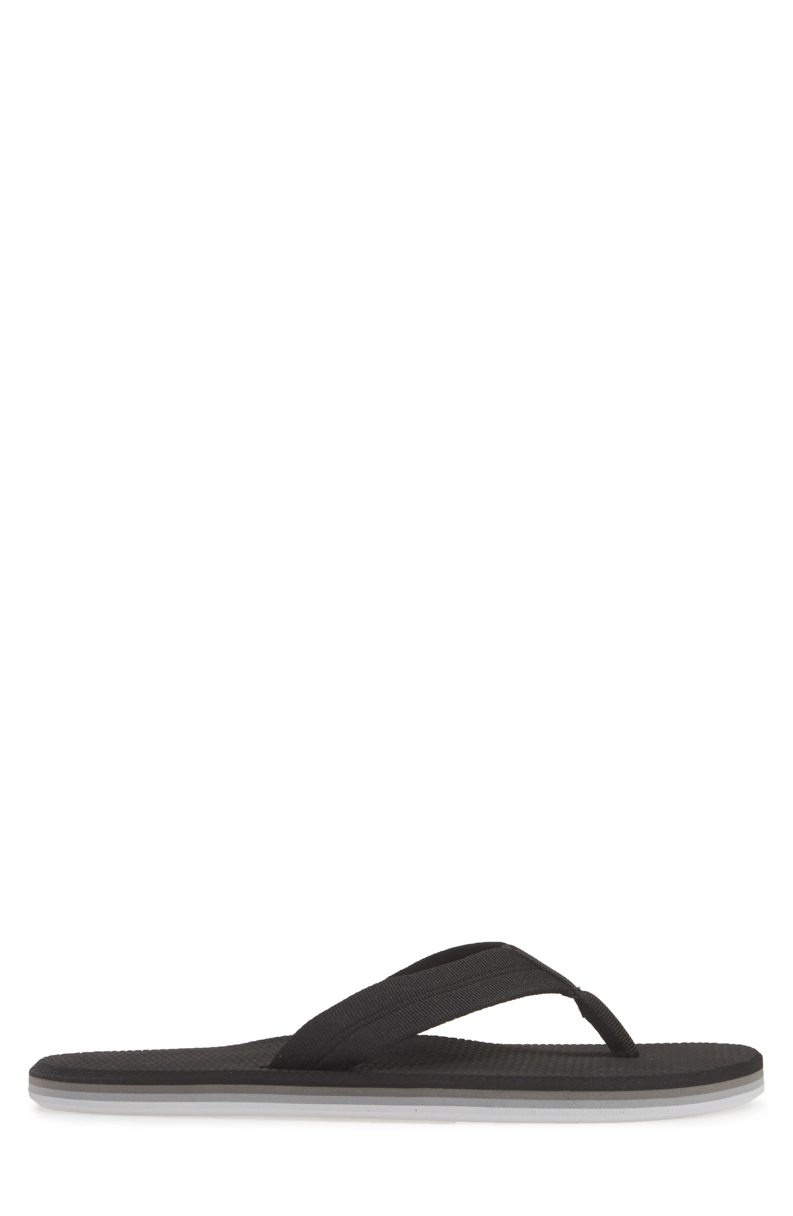 HARI MARI, 'Dunes' Flip Flop, Alternate thumbnail 3, color, BLACK