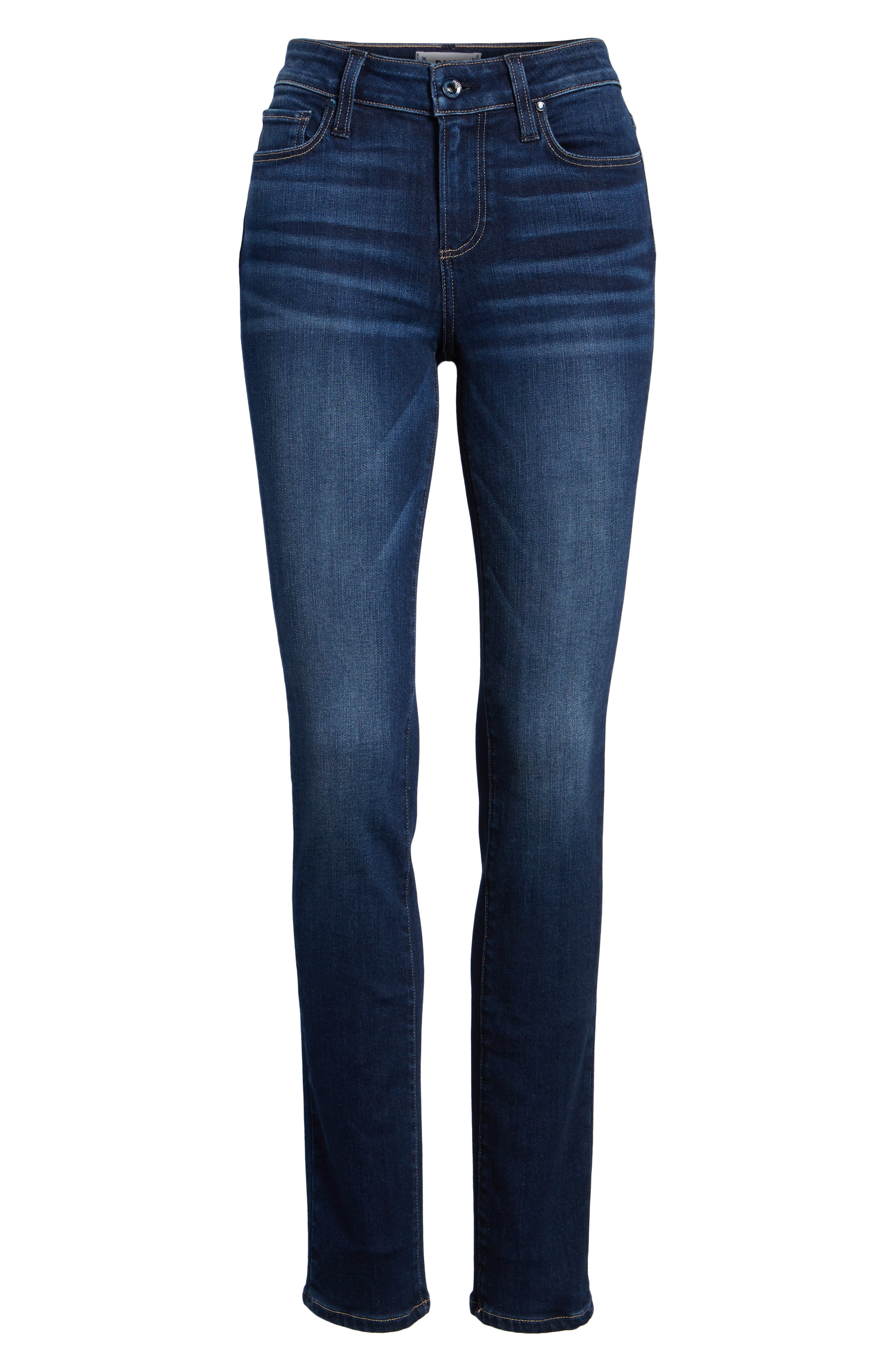 PAIGE, Skyline Skinny Jeans, Alternate thumbnail 7, color, IDLEWILD