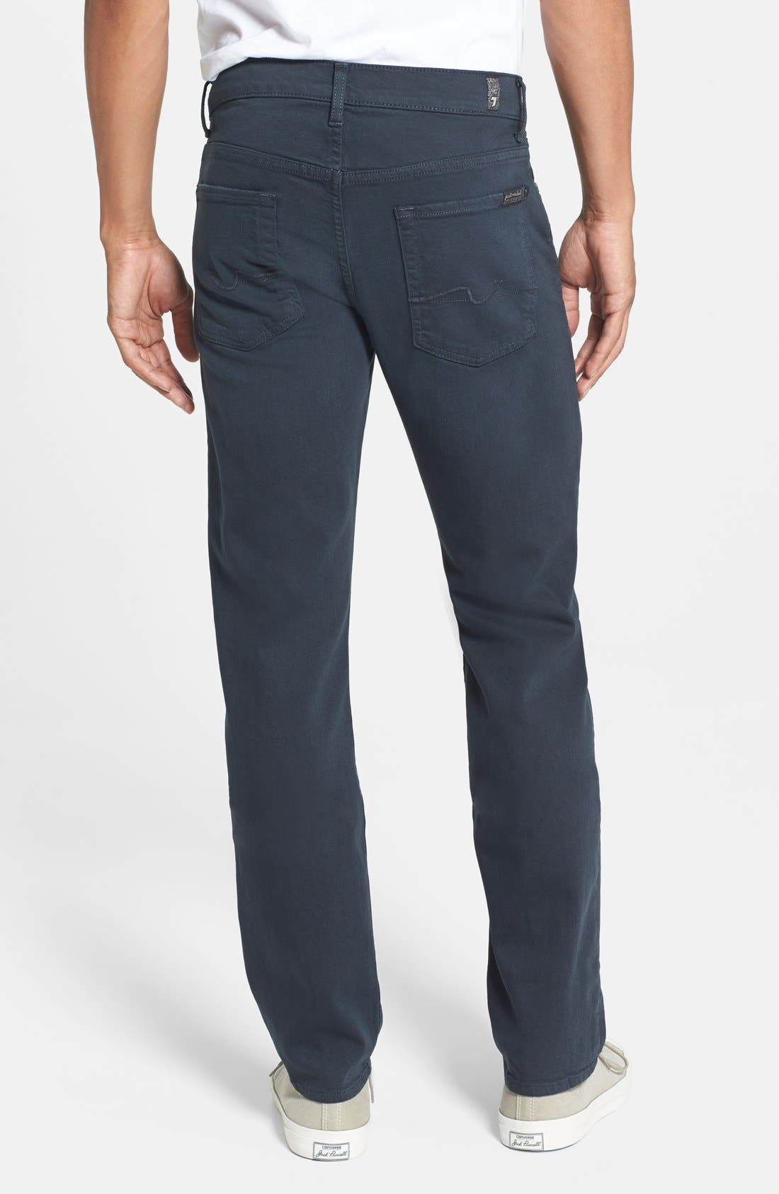 7 FOR ALL MANKIND<SUP>®</SUP>, 'Slimmy - Luxe Performance' Slim Fit Jeans, Alternate thumbnail 2, color, 004