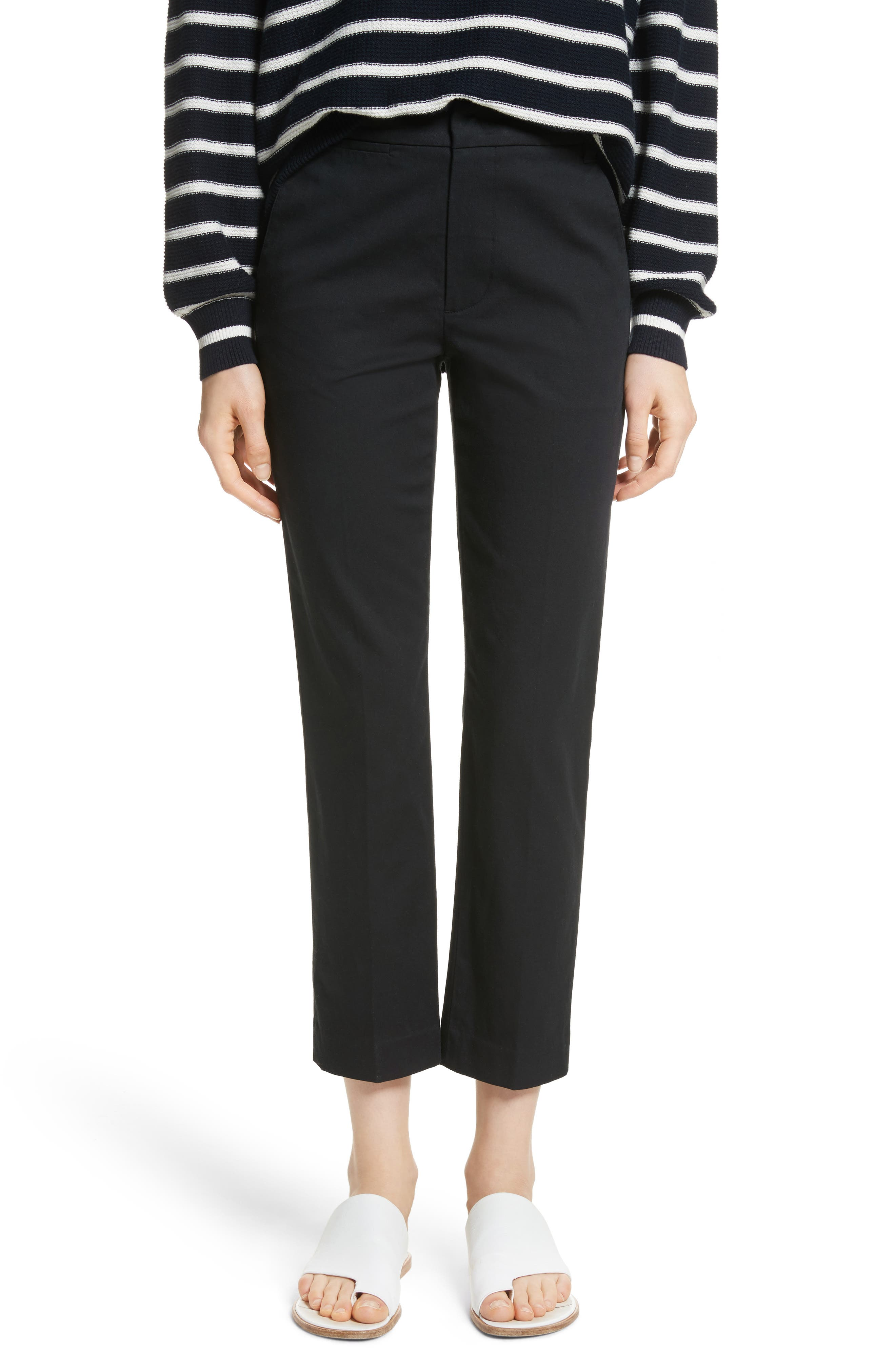 VINCE Coin Pocket Chino Pants, Main, color, BLACK