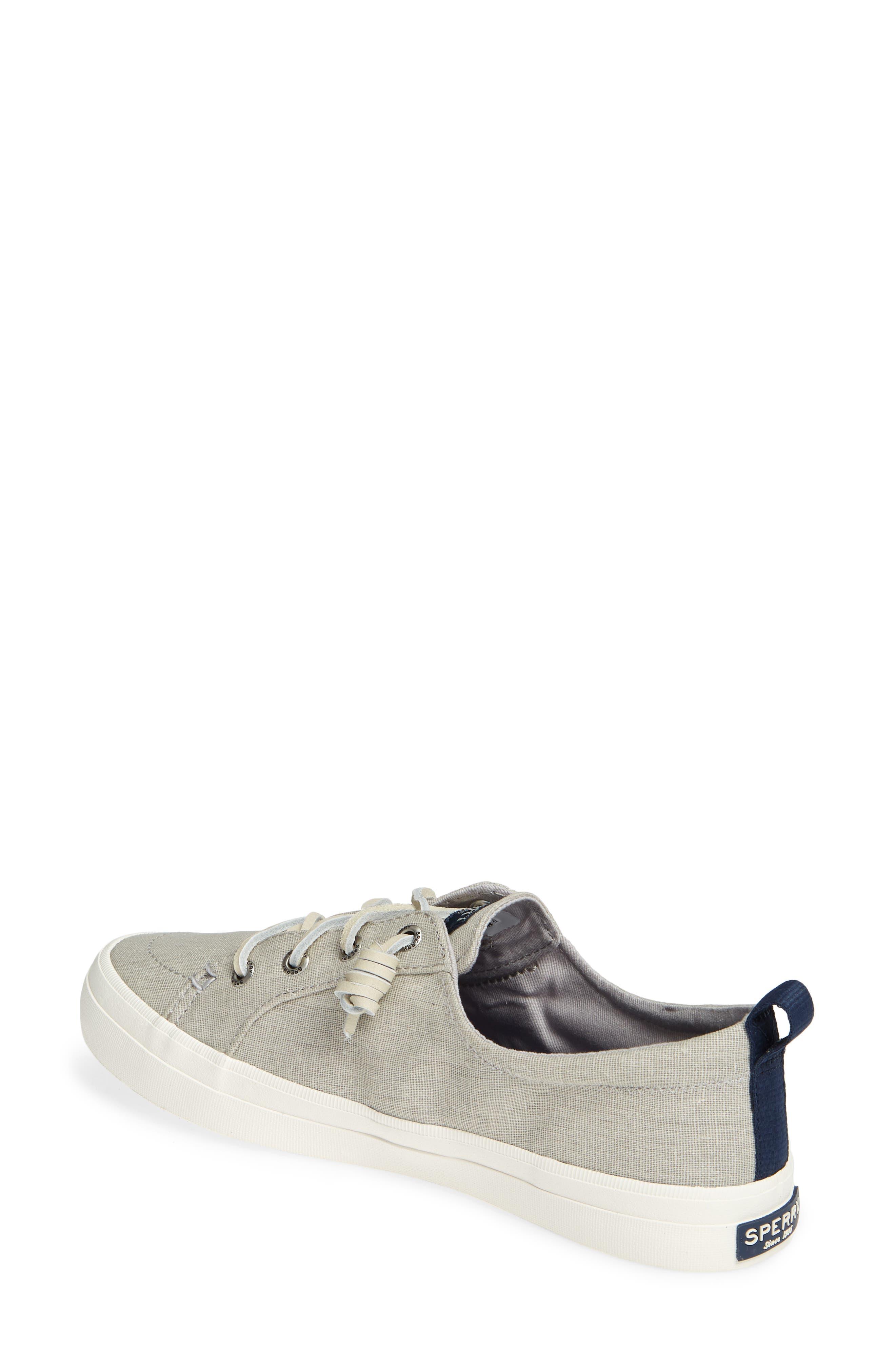 SPERRY, Crest Vibe Sneaker, Alternate thumbnail 2, color, GREY LINEN FABRIC