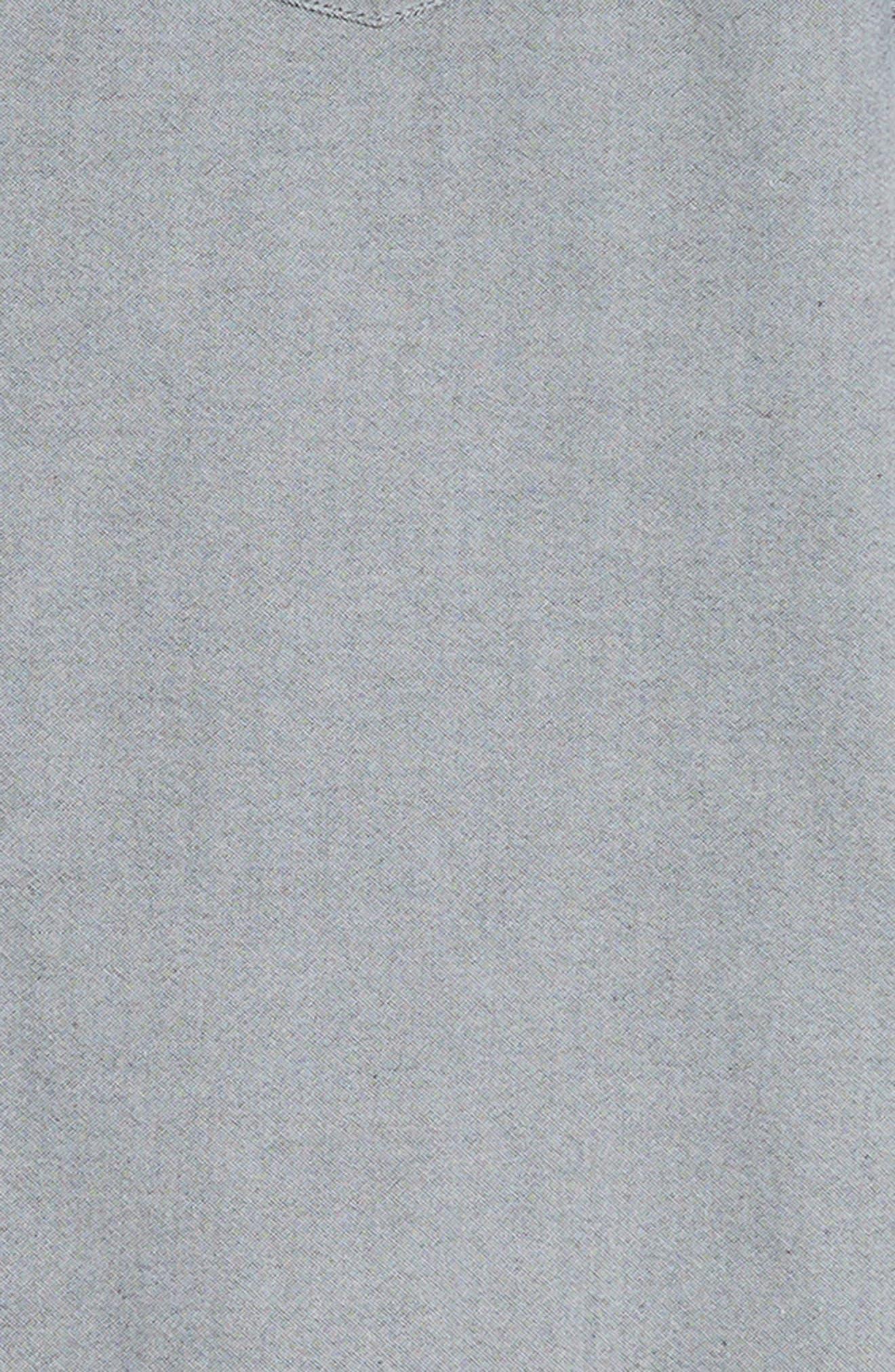 THE RAIL, Oxford Cloth Woven Shirt, Alternate thumbnail 6, color, BLACK ROCK-WHITE