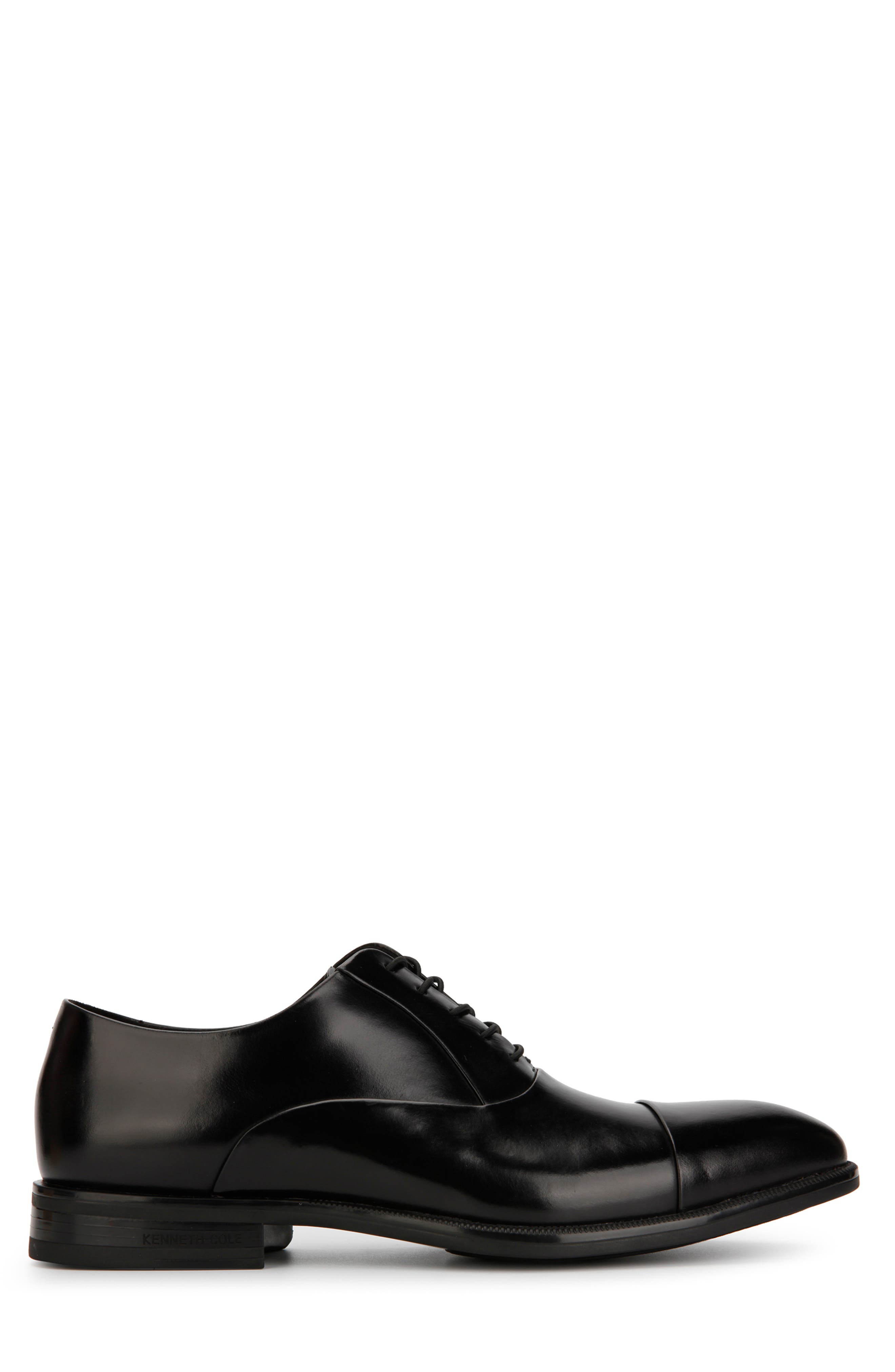 KENNETH COLE NEW YORK, Futurepod Cap Toe Oxford, Alternate thumbnail 2, color, BLACK LEATHER