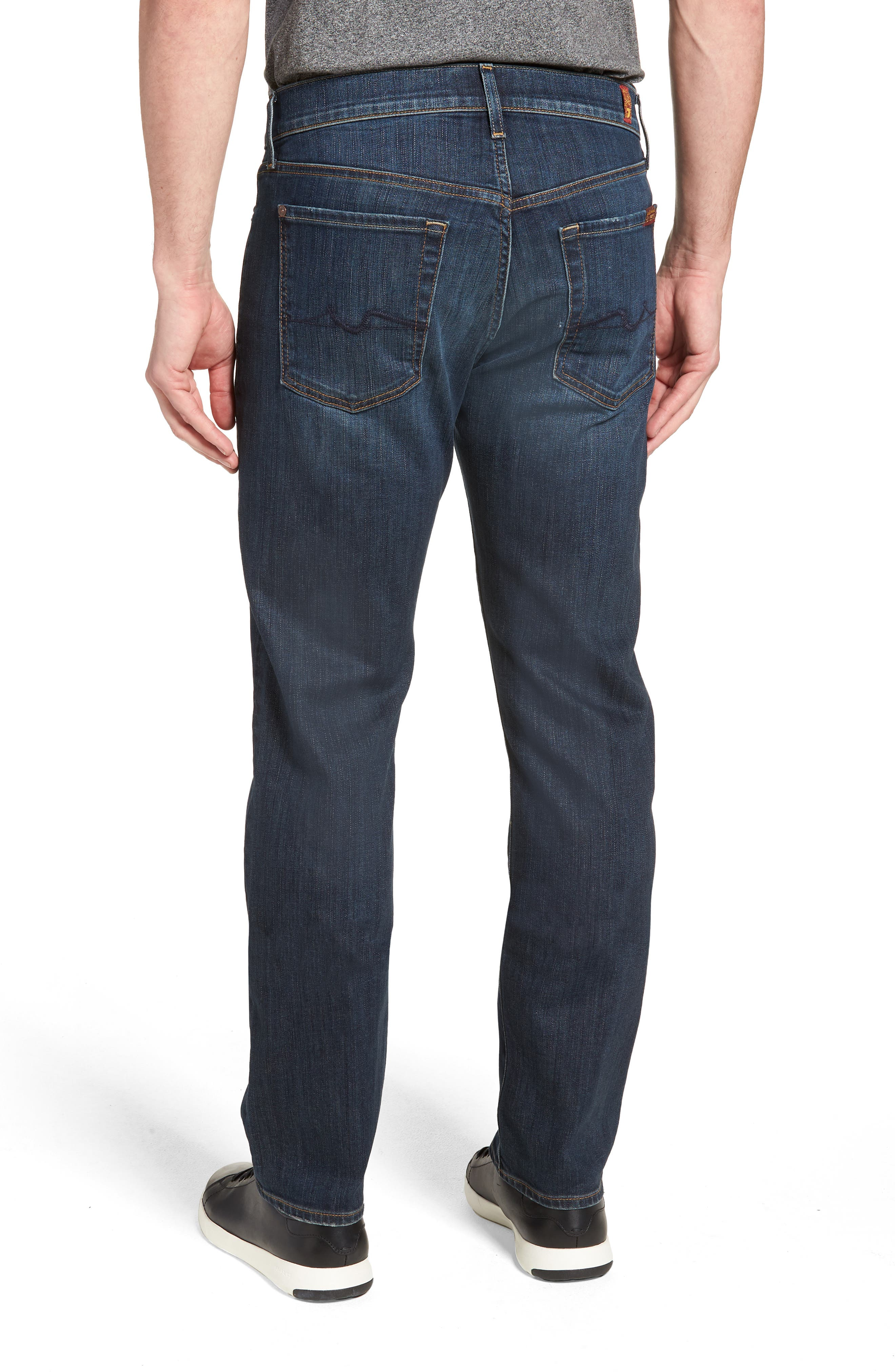 7 FOR ALL MANKIND<SUP>®</SUP>, Luxe Performance Standard Straight Leg Jeans, Alternate thumbnail 2, color, LUXE PERFORMANCE YELM