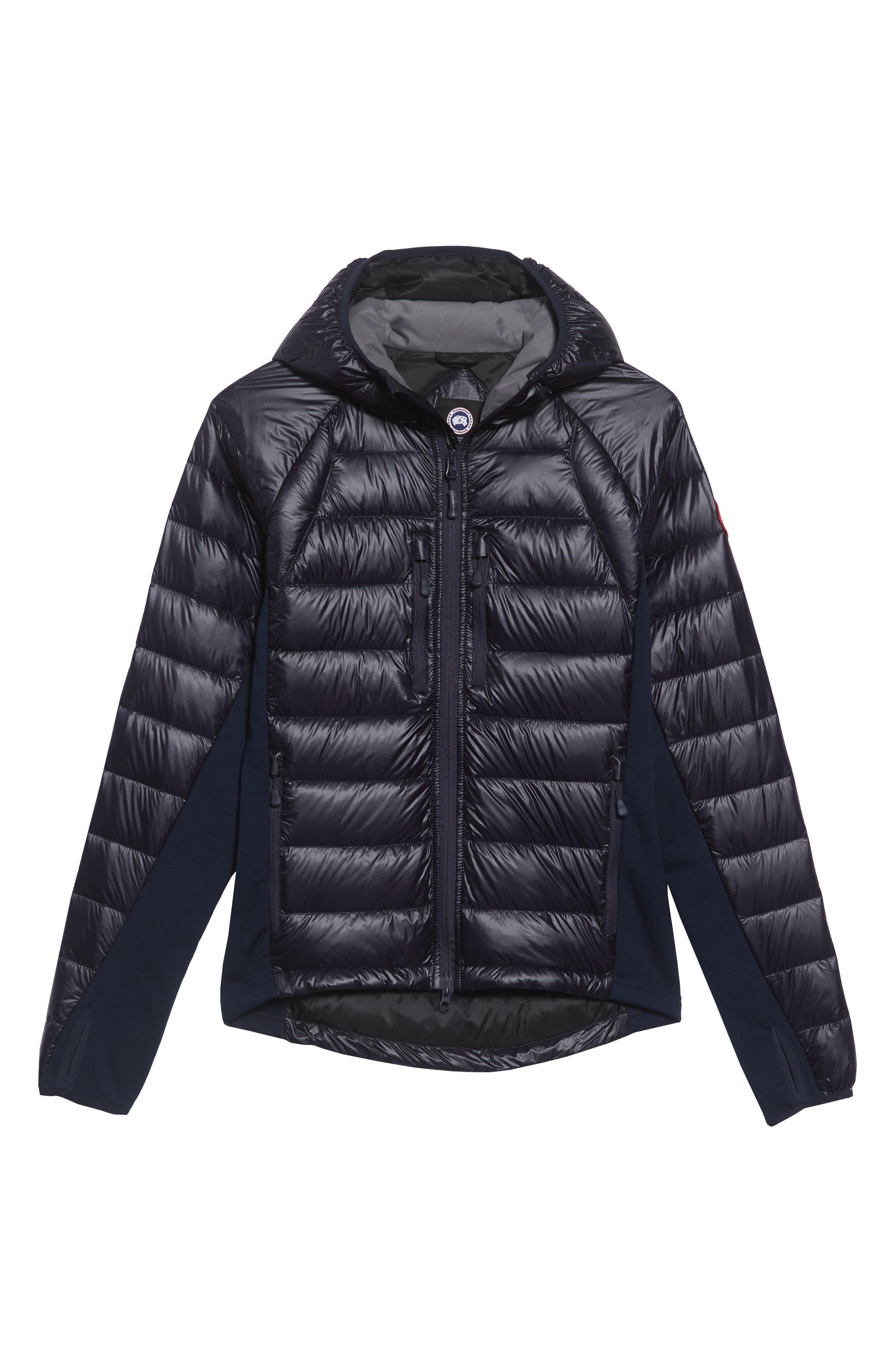 CANADA GOOSE, 'Hybridge<sup>™</sup> Lite Hoody' Slim Fit Packable Jacket, Alternate thumbnail 5, color, ADMIRAL BLUE/ BLACK