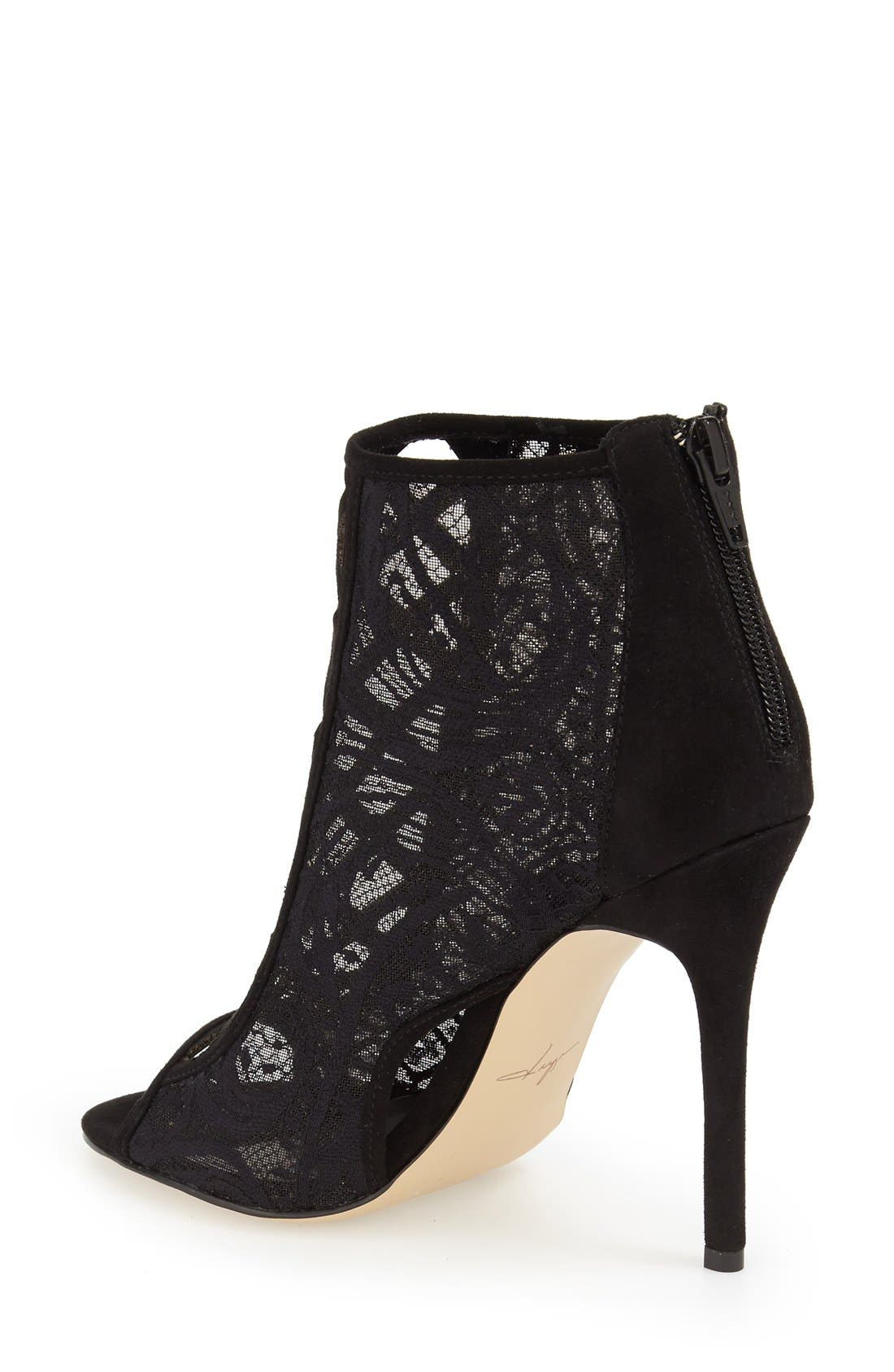 DAYA, by Zendaya 'Angus' Lace Open Toe Bootie, Alternate thumbnail 2, color, 008