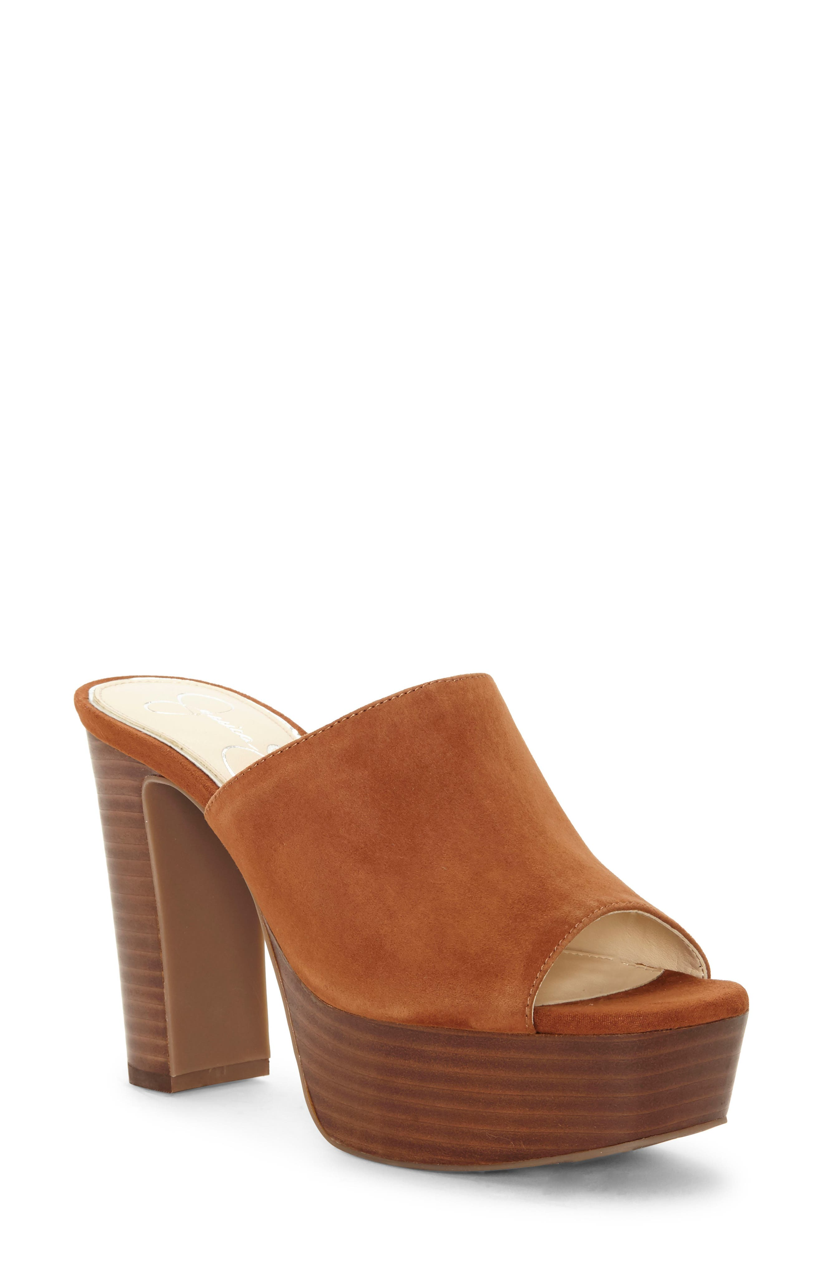 Jessica Simpson Camree Platform Sandal- Brown