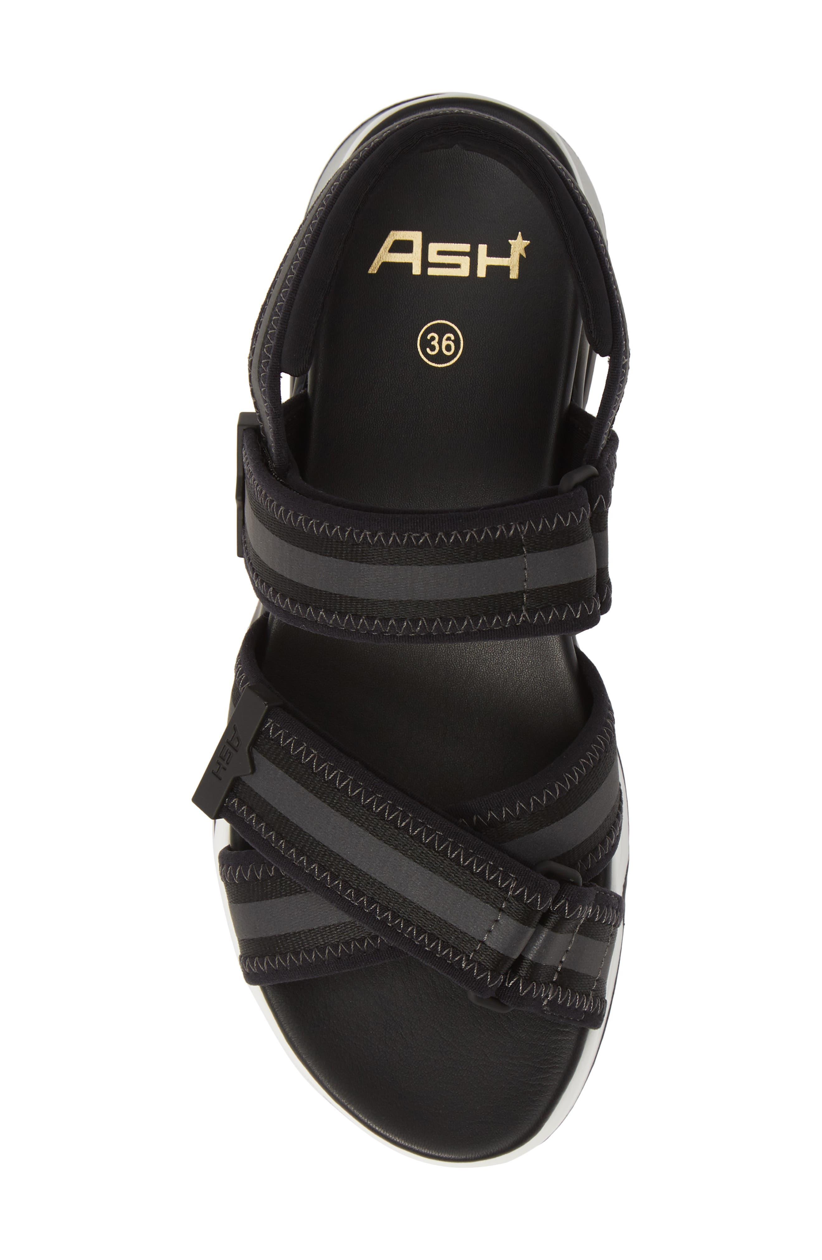 ASH, Lewis Sandal, Alternate thumbnail 4, color, BLACK/ BLACK/ BLACK