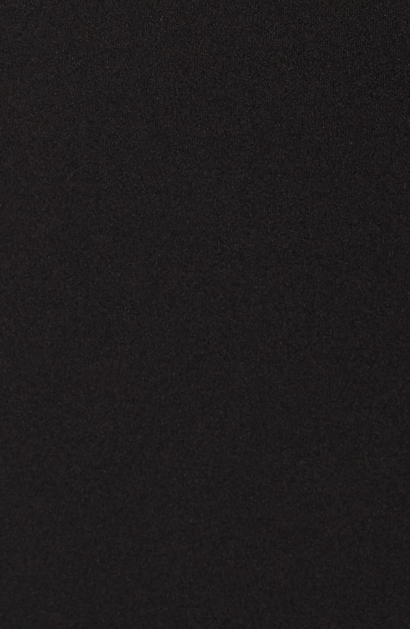 VINCE CAMUTO, Lace Panel Trumpet Gown, Alternate thumbnail 6, color, BLACK TAN