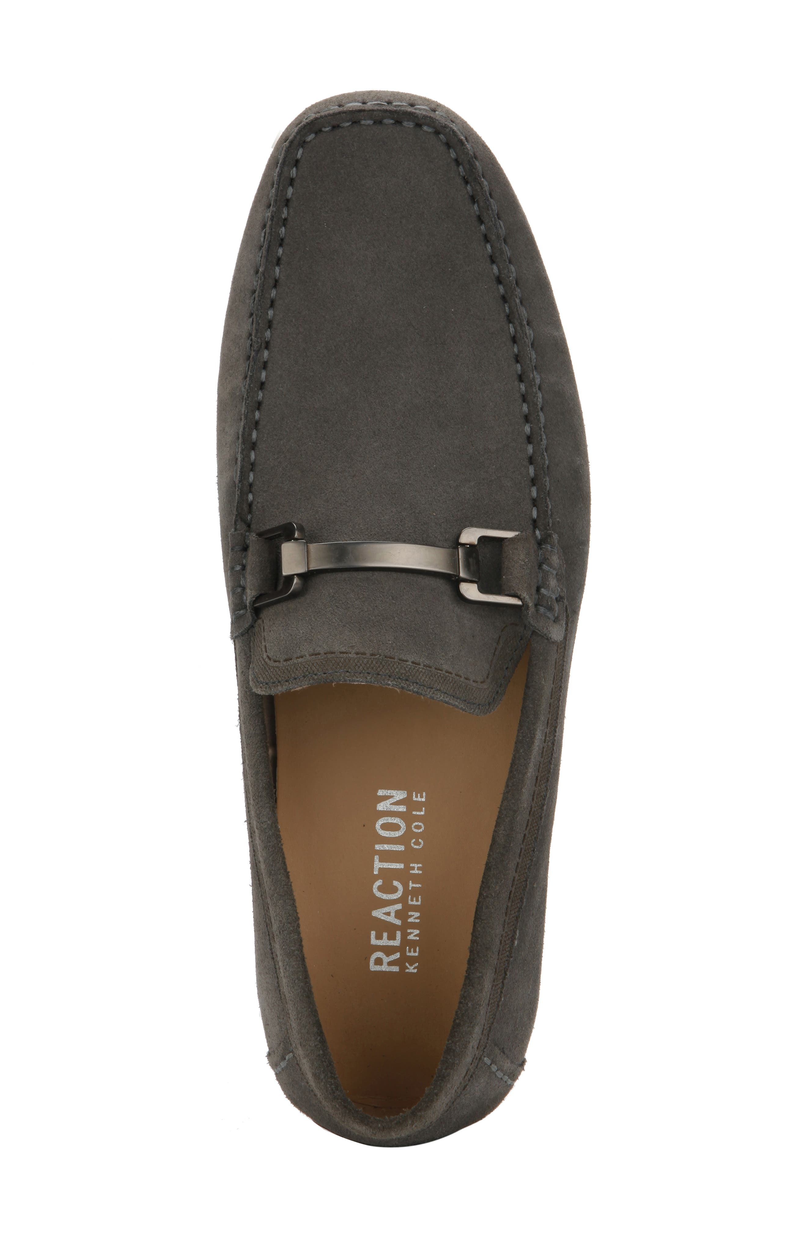 REACTION KENNETH COLE, Sound Driving Shoe, Alternate thumbnail 3, color, GREY