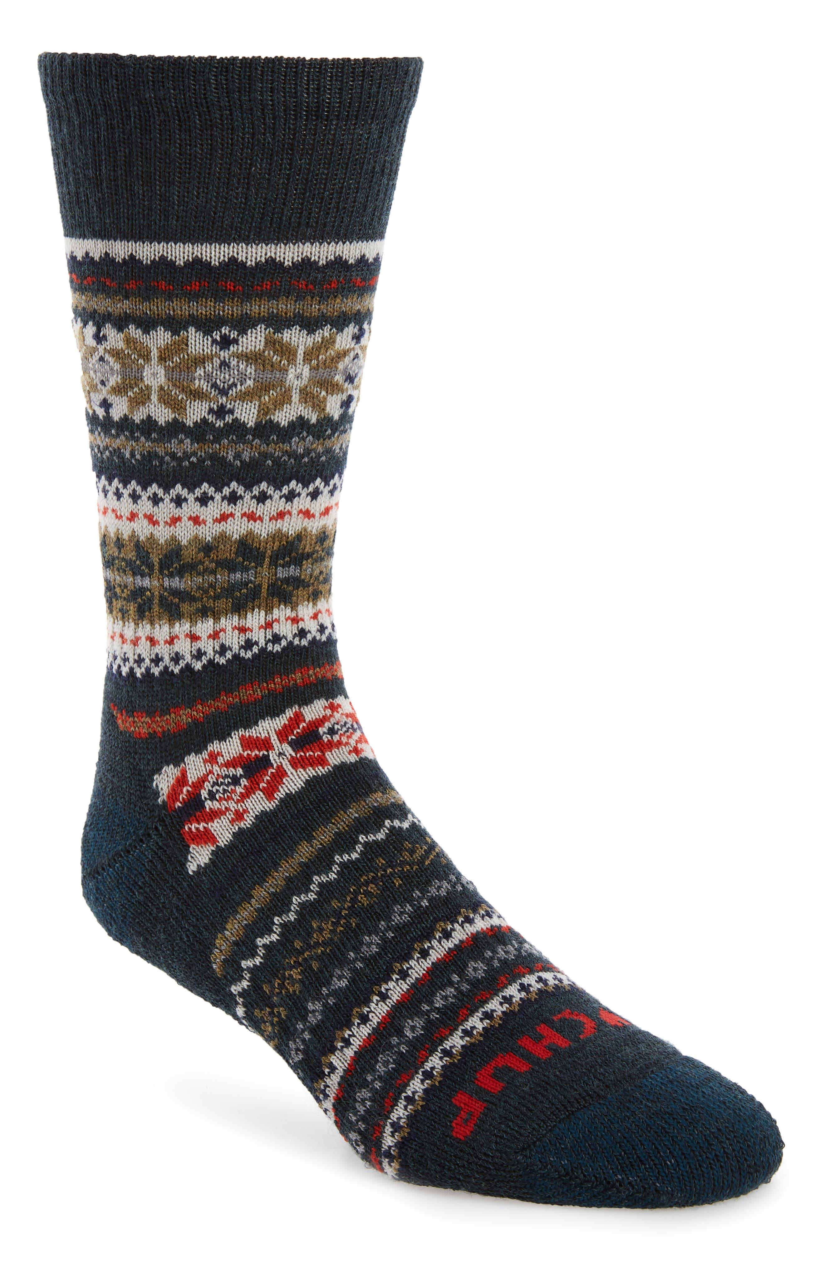 SMARTWOOL, x CHUP Snowflake Socks, Main thumbnail 1, color, 050