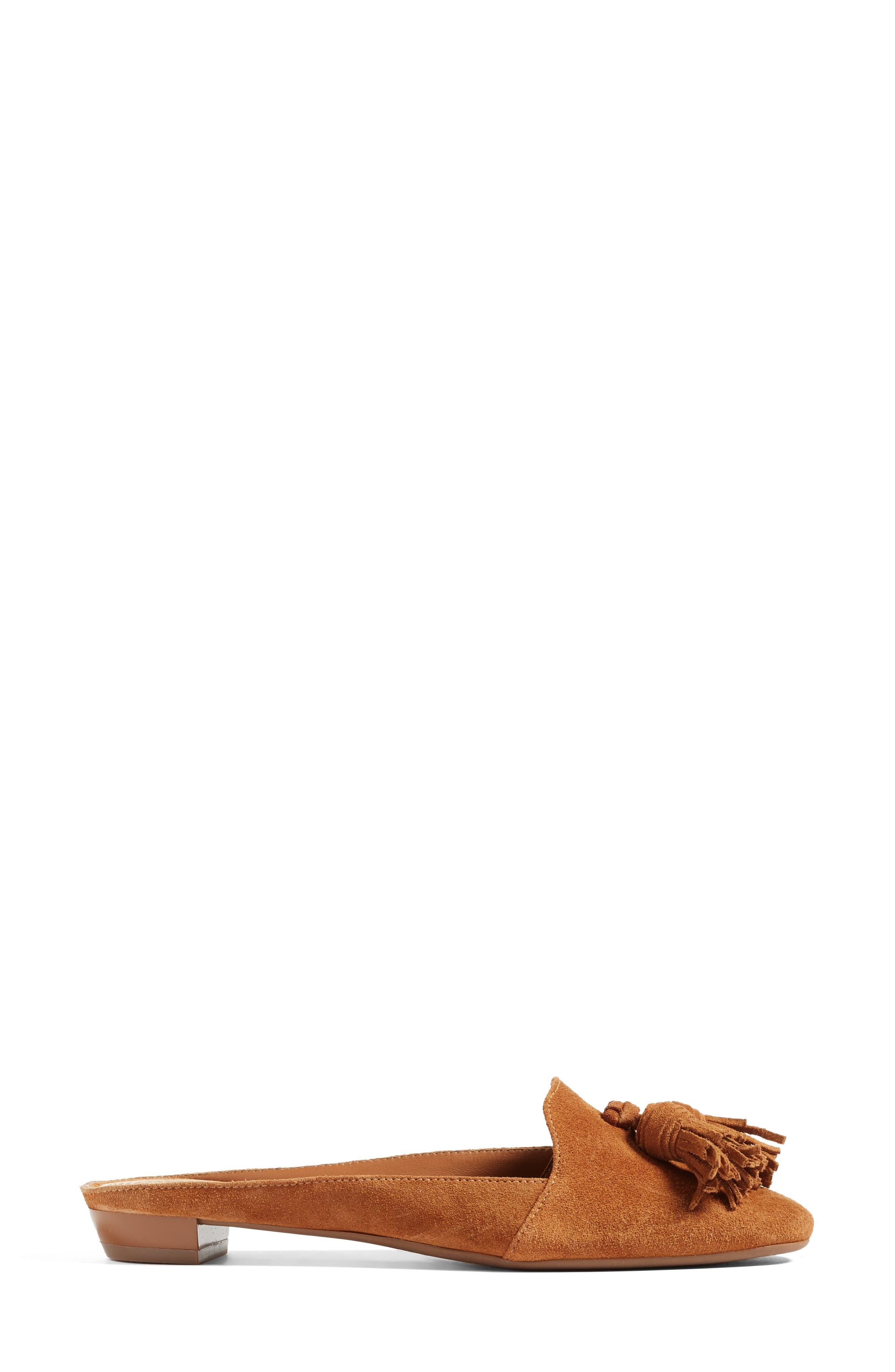 TORY BURCH, Salinas Tassel Loafer Mule, Alternate thumbnail 2, color, 250
