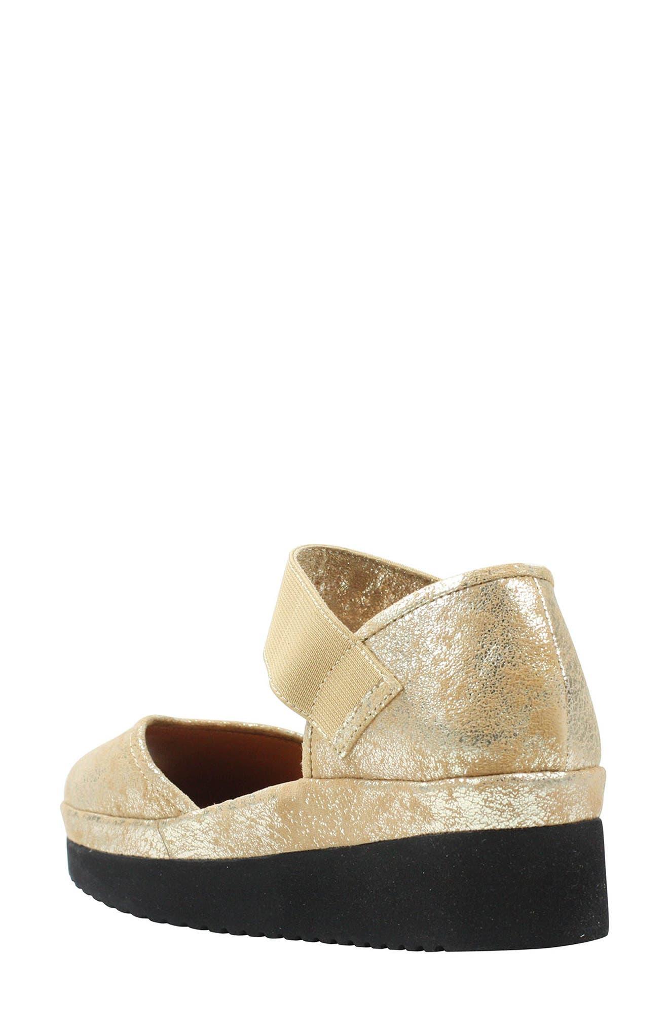L'AMOUR DES PIEDS, 'Amadour' Platform Sandal, Alternate thumbnail 2, color, GOLD LEATHER
