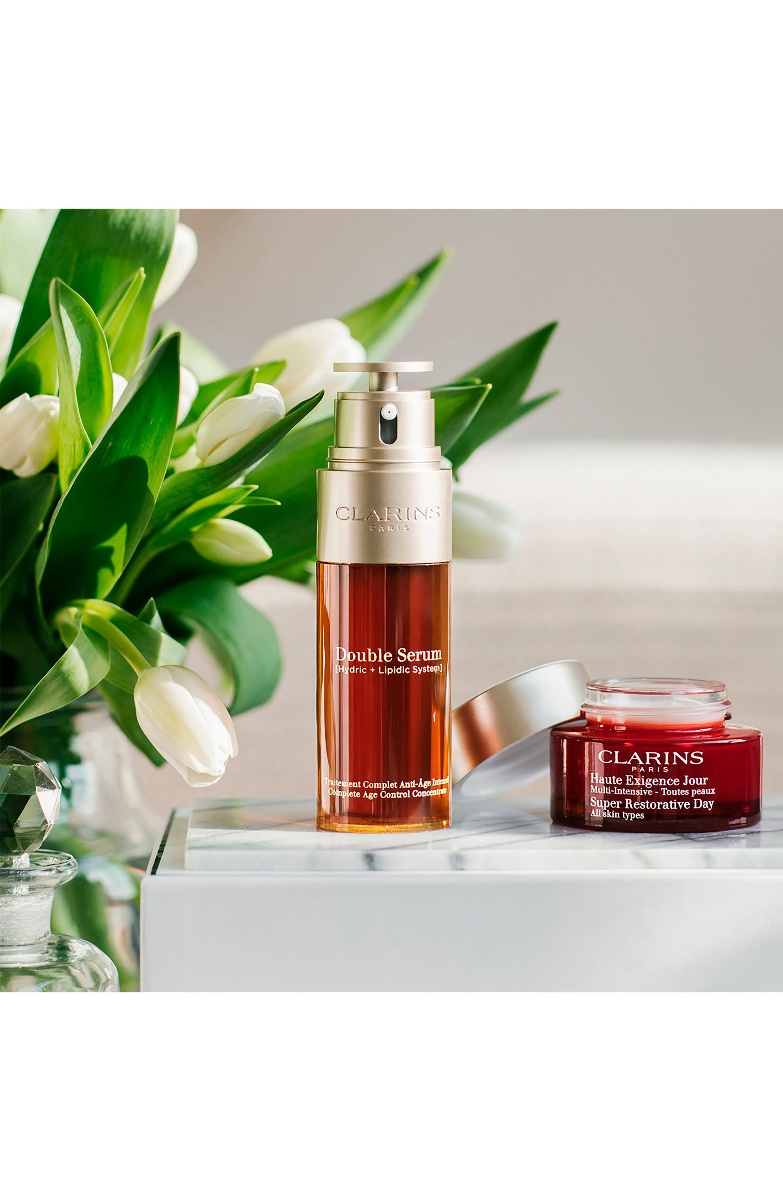 CLARINS, Double Serum Complete Age Control Concentrate, Alternate thumbnail 9, color, NO COLOR