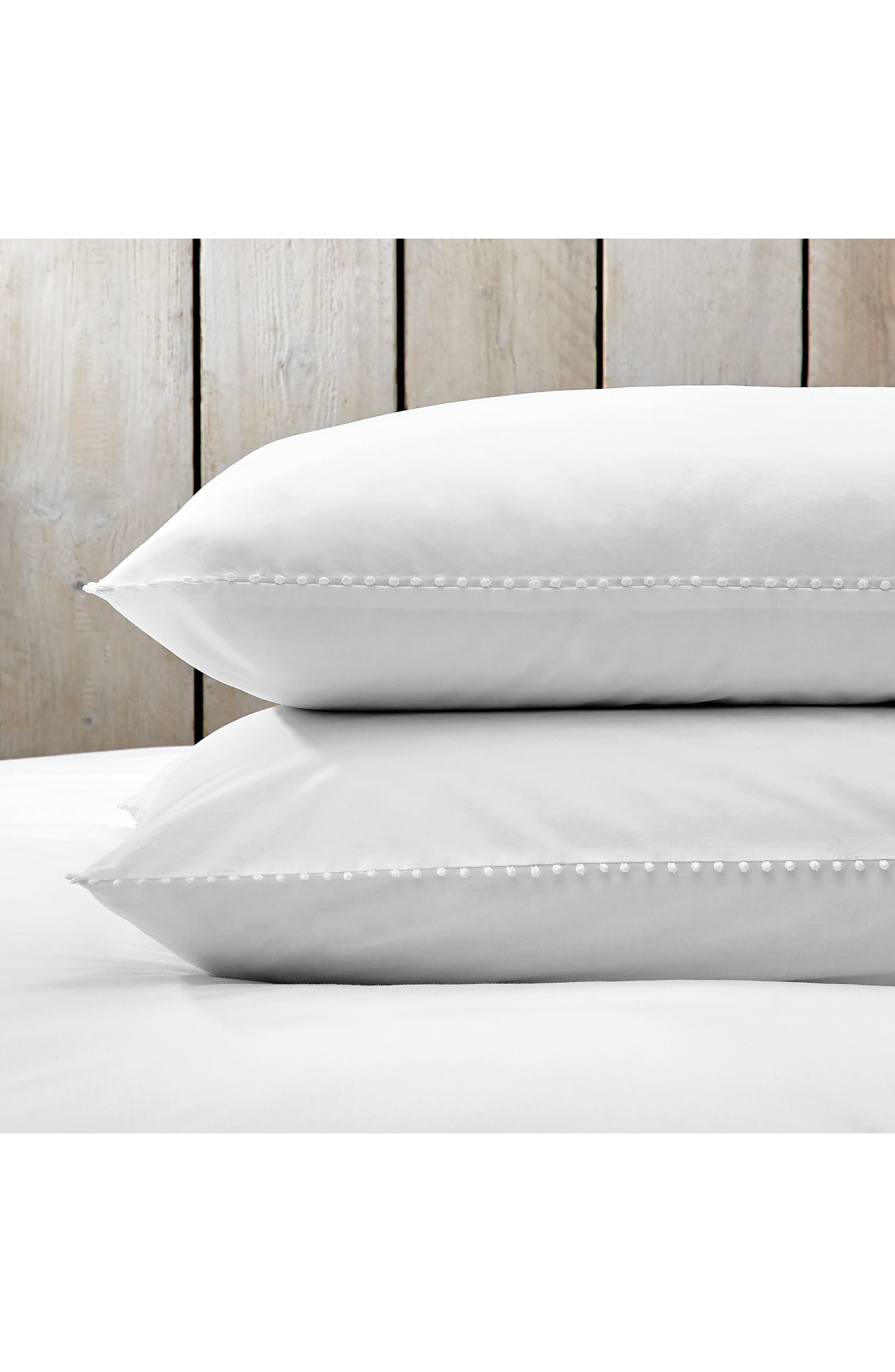THE WHITE COMPANY, Avignon 200 Thread Count Euro Pillowcase, Main thumbnail 1, color, WHITE