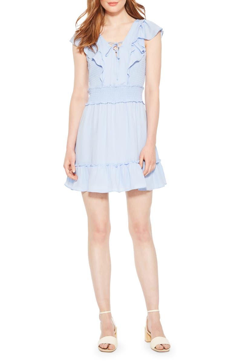 Parker Dresses Celeste Smocked Ruffle Minidress