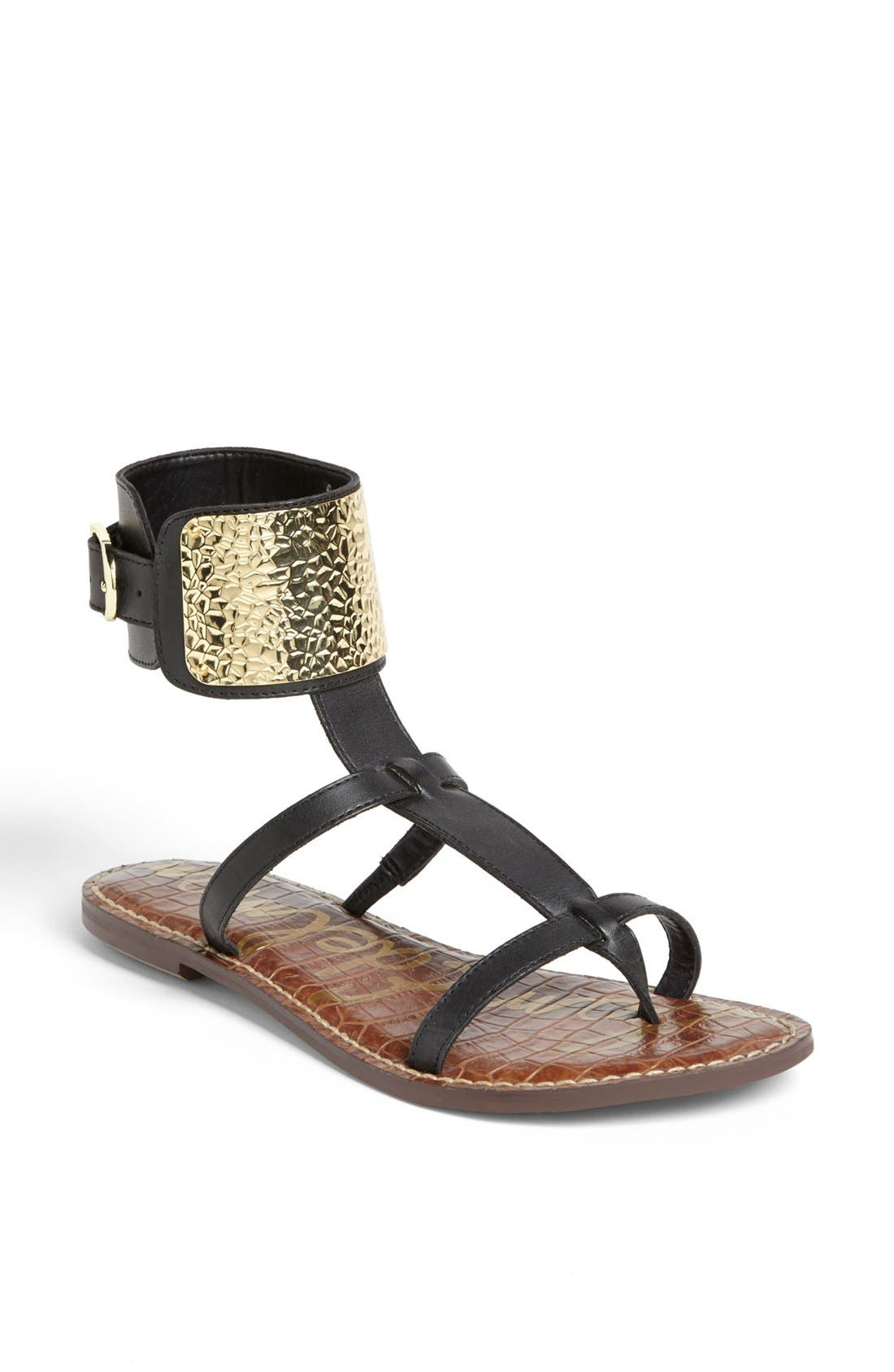 SAM EDELMAN, 'Genette' Sandal, Main thumbnail 1, color, 001