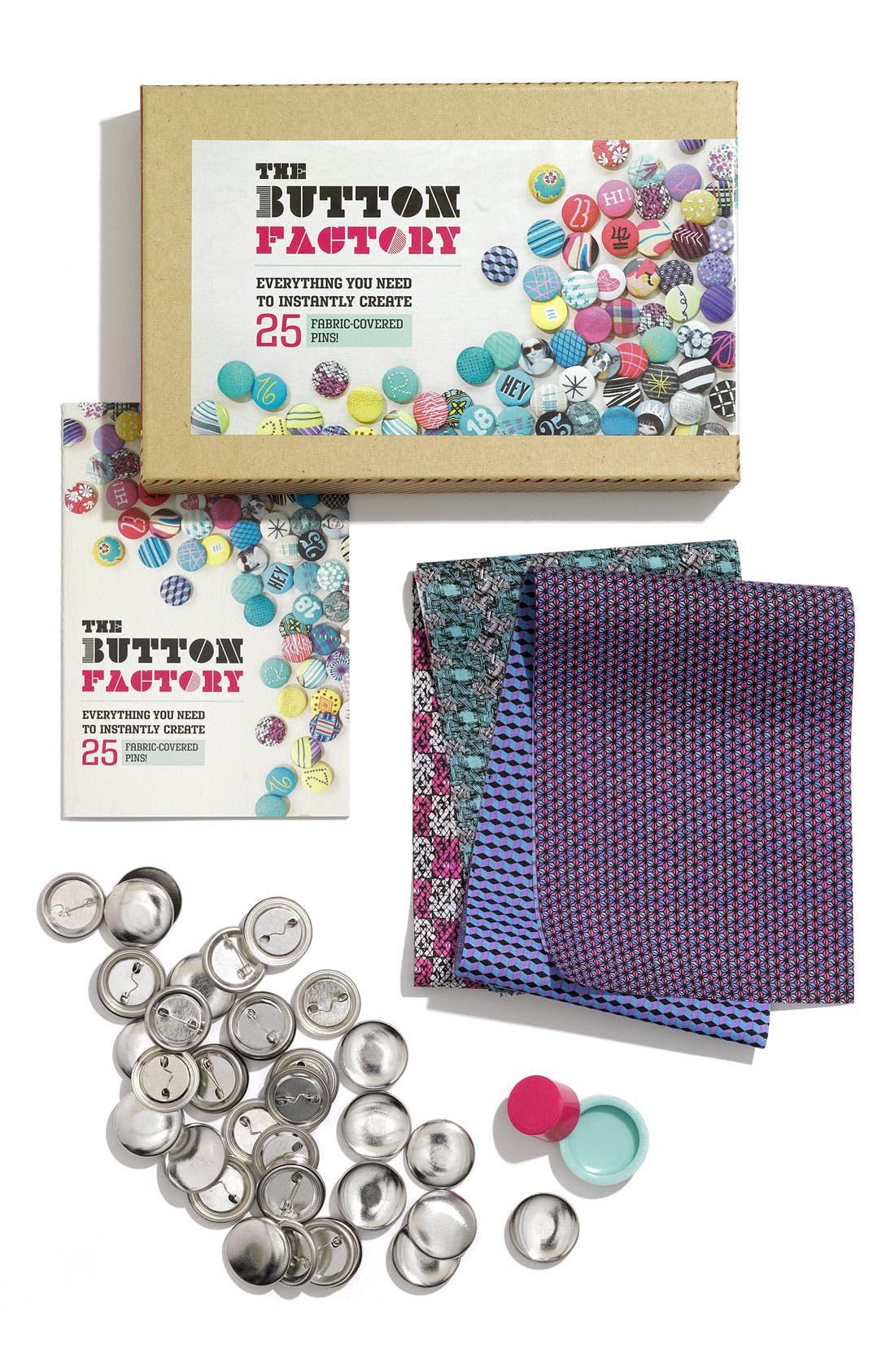 CHRONICLE BOOKS, 'Button Factory' Button Kit, Main thumbnail 1, color, 000