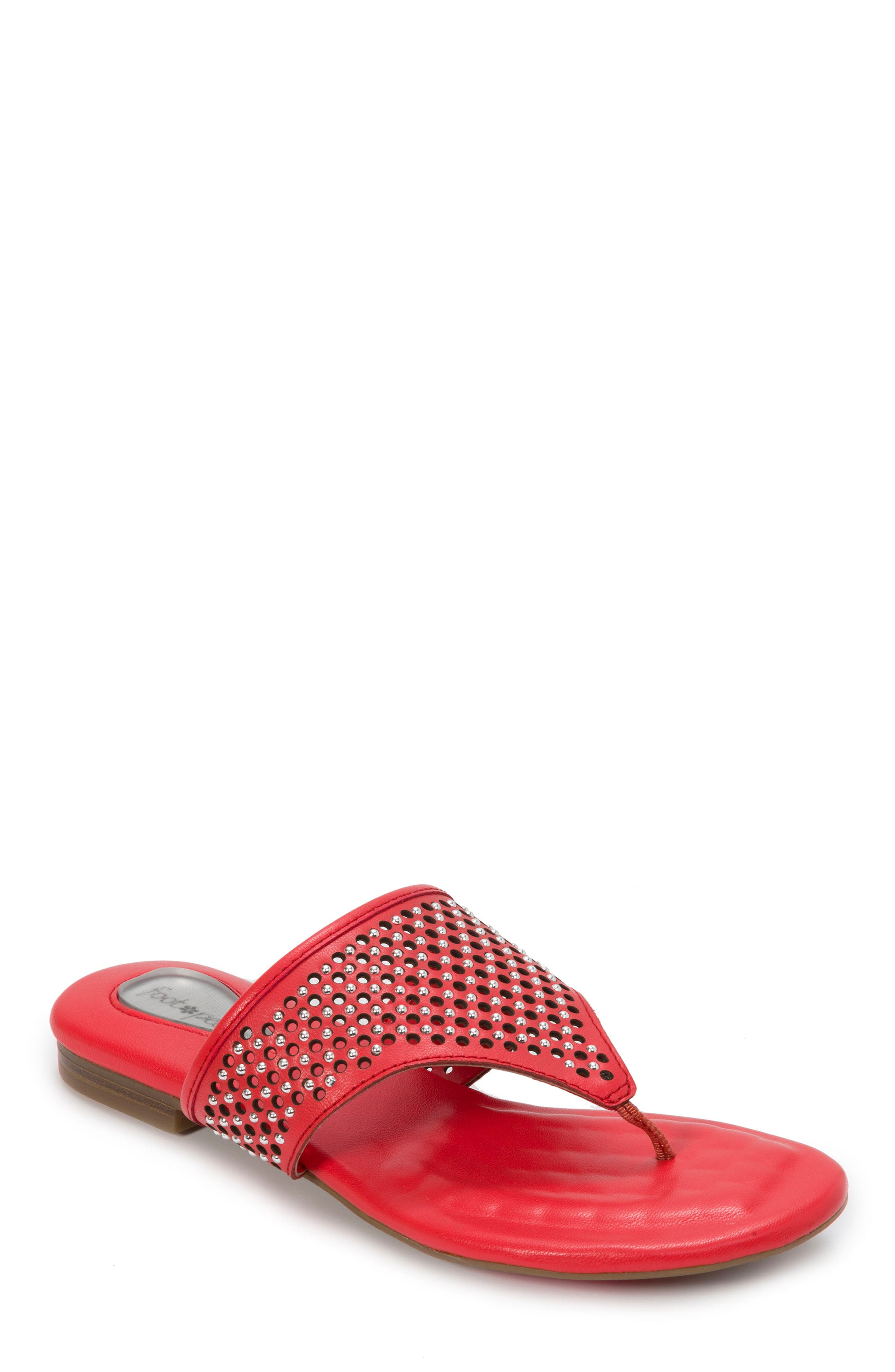 Foot Petals Evie Sandal, Red