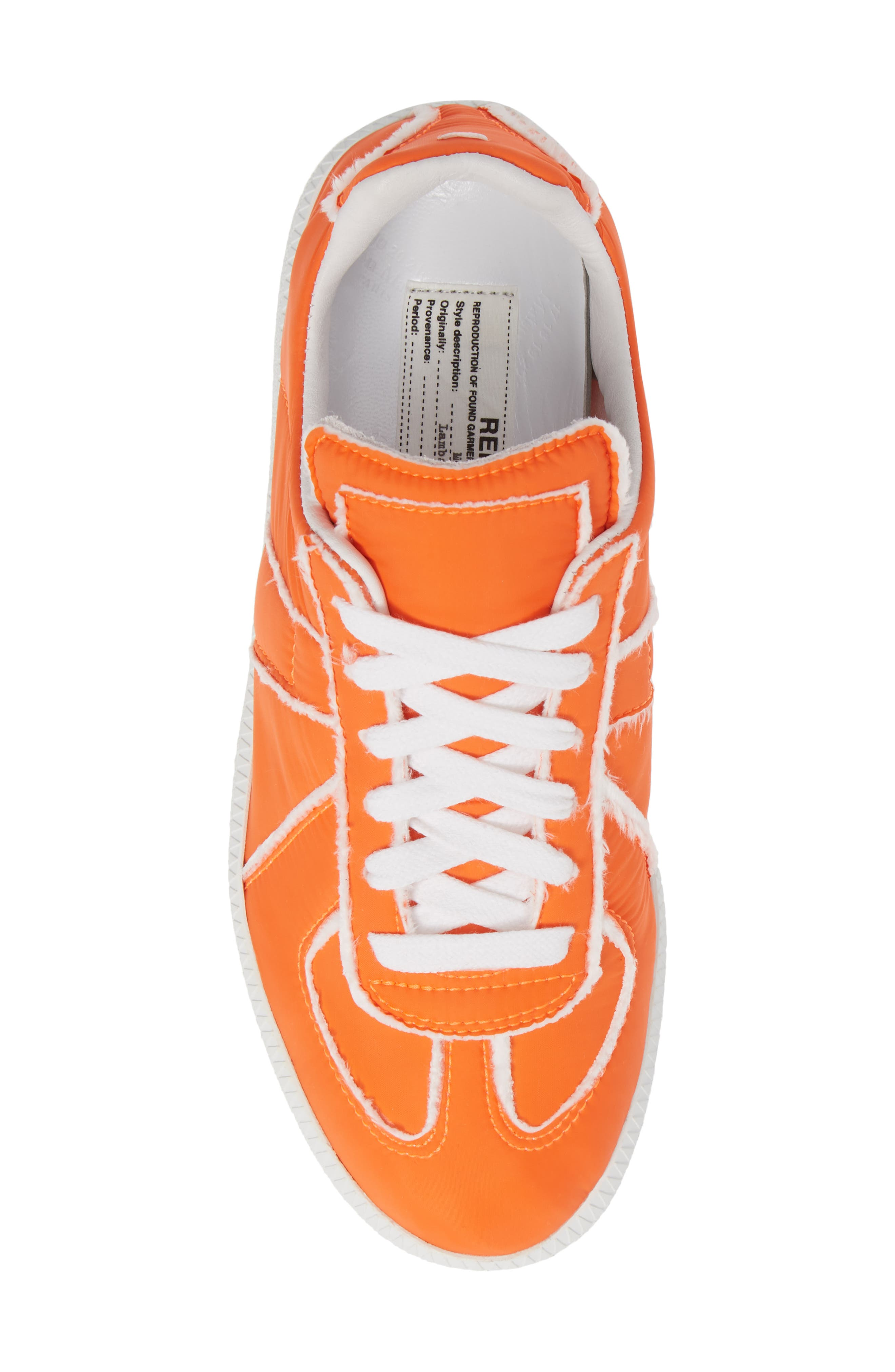 MAISON MARGIELA, Replica Lace-Up Sneaker, Alternate thumbnail 5, color, VERMILLION ORANGE