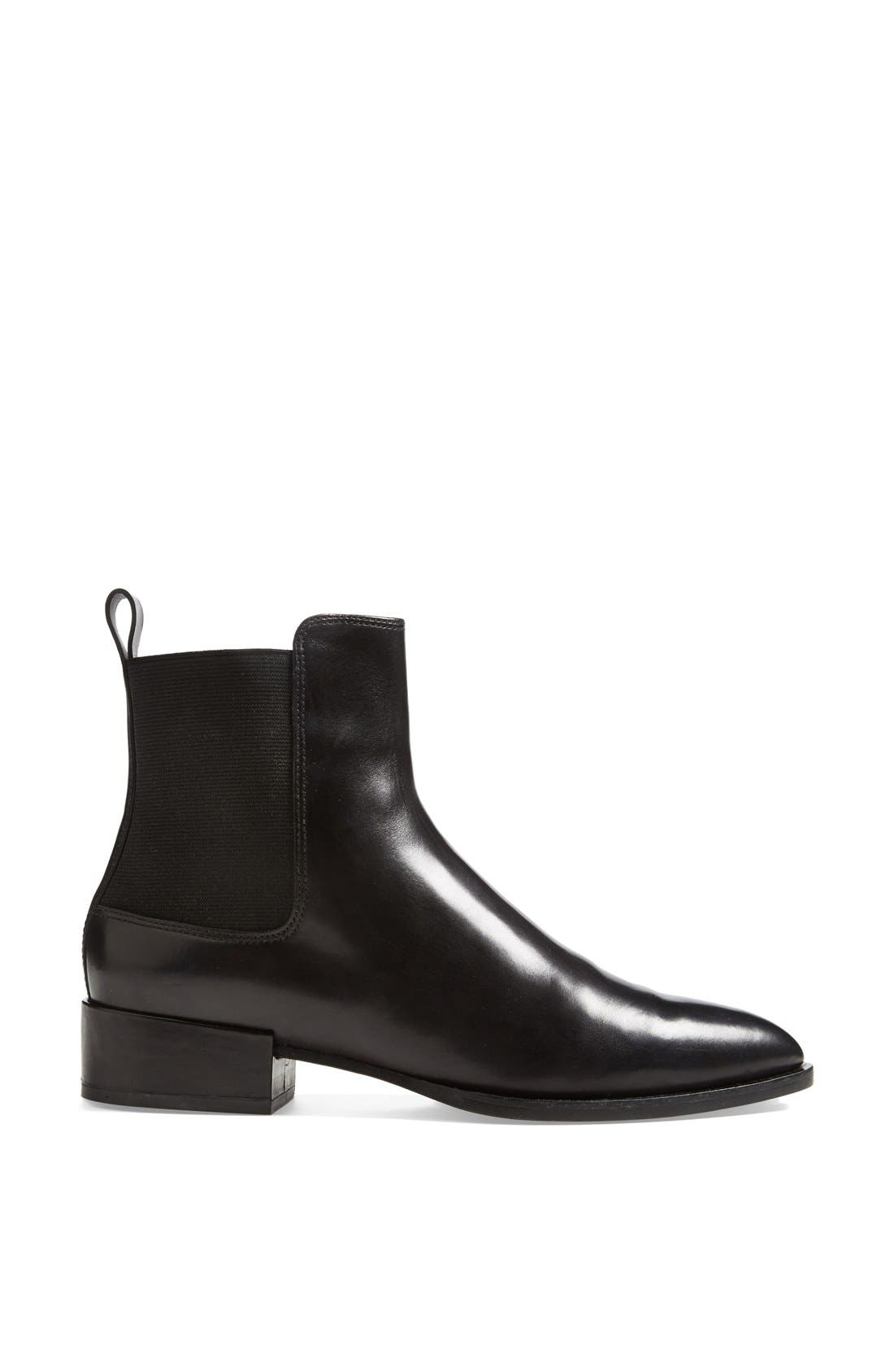 VINCE, 'Yarmon' Almond Toe Calfskin Leather Chelsea Boot, Alternate thumbnail 4, color, 002