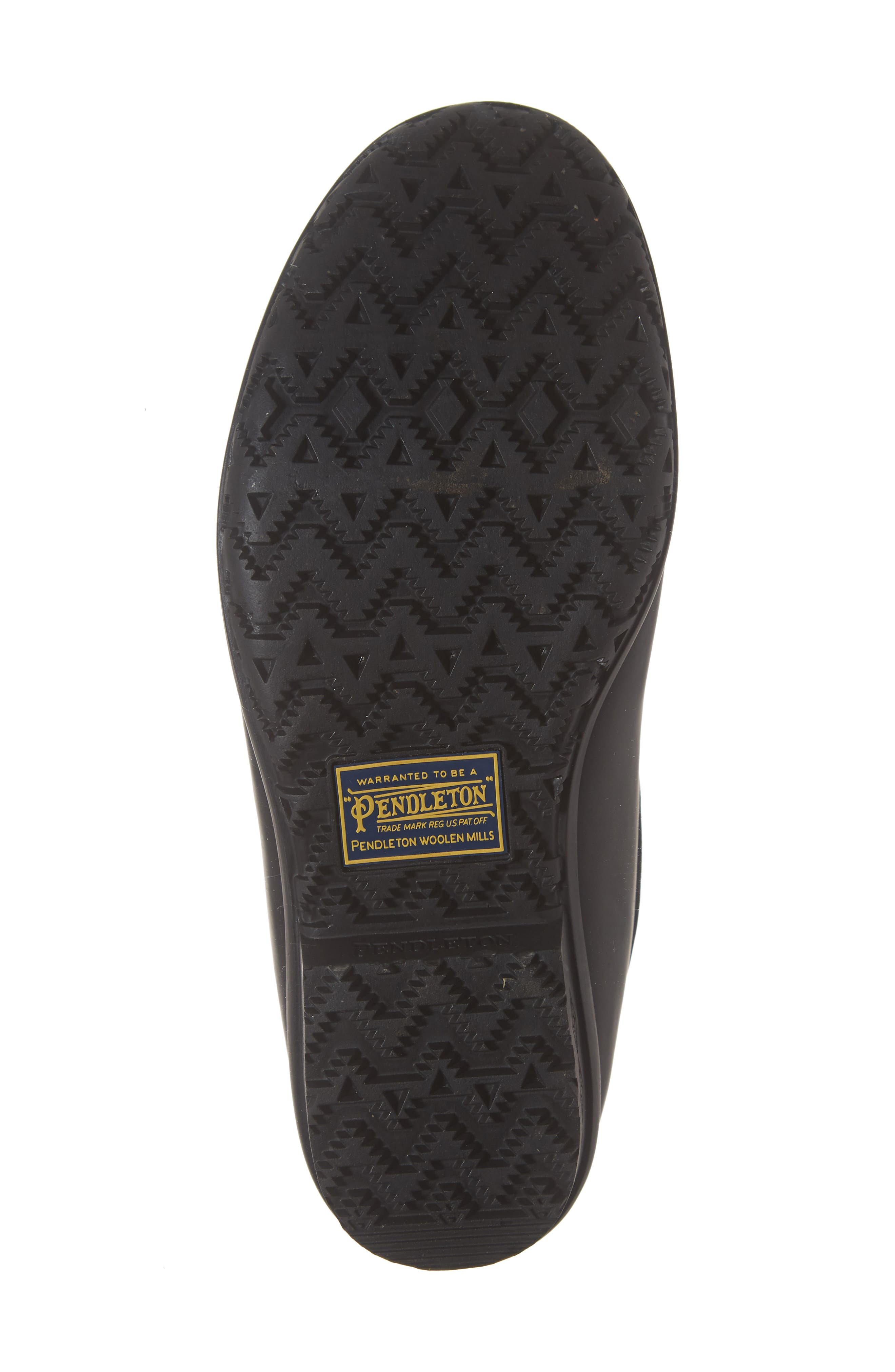 PENDLETON, Waterproof Duck Boot, Alternate thumbnail 6, color, BLACK RUBBER
