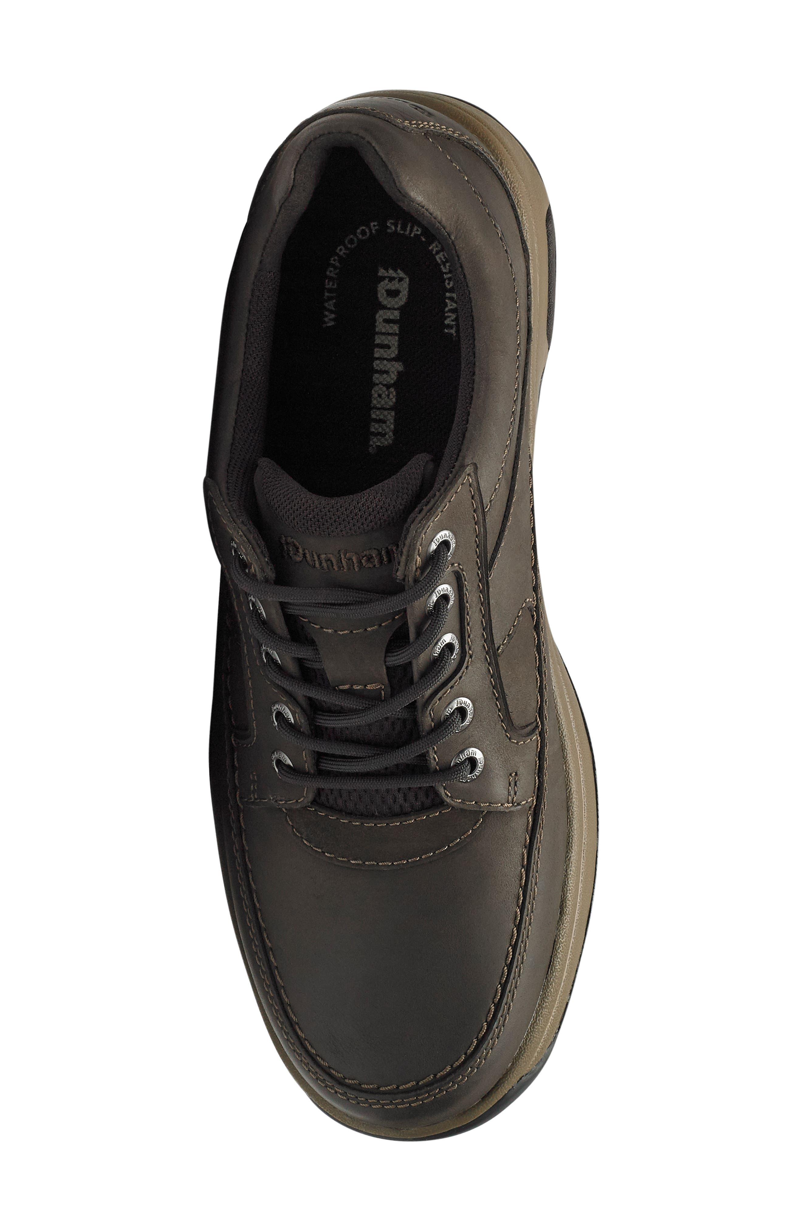 DUNHAM, 'Midland' Sneaker, Alternate thumbnail 5, color, BROWN LEATHER