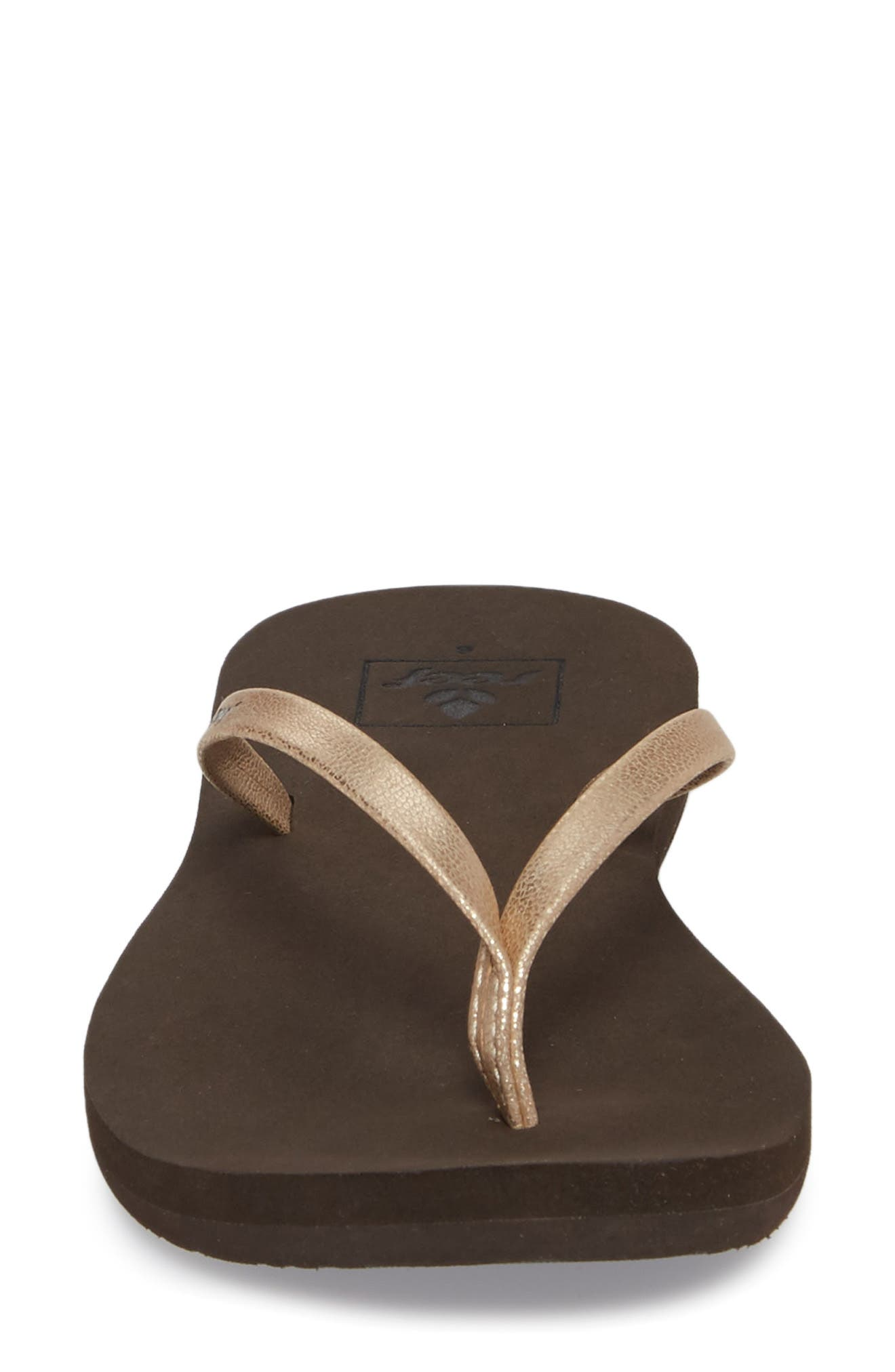 REEF, Bliss Nights Flip Flop, Alternate thumbnail 4, color, ROSE GOLD