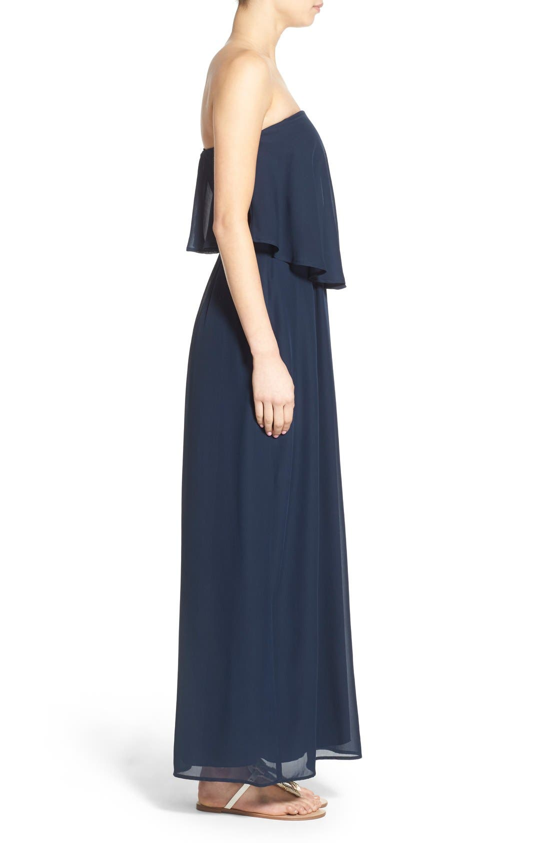 WAY-IN, Strapless Popover Maxi Dress, Alternate thumbnail 2, color, 411
