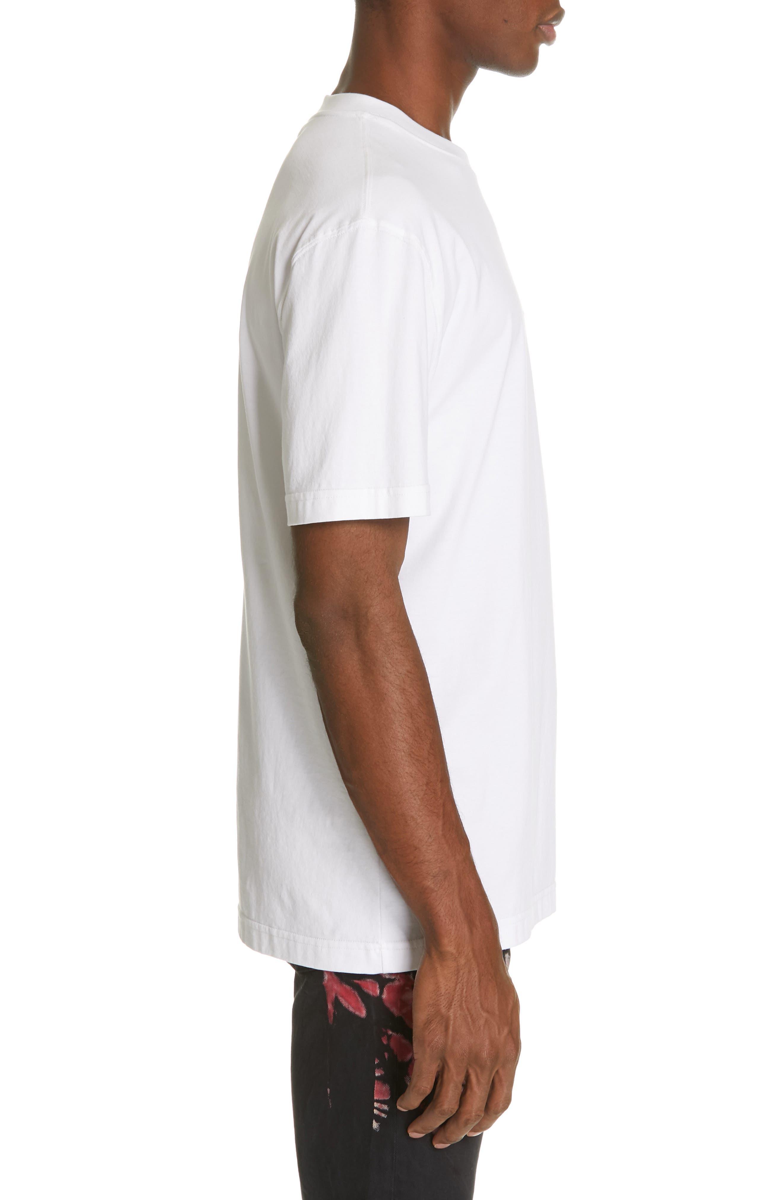 CALVIN KLEIN 205W39NYC, Logo T-Shirt, Alternate thumbnail 3, color, OPTIC WHITE