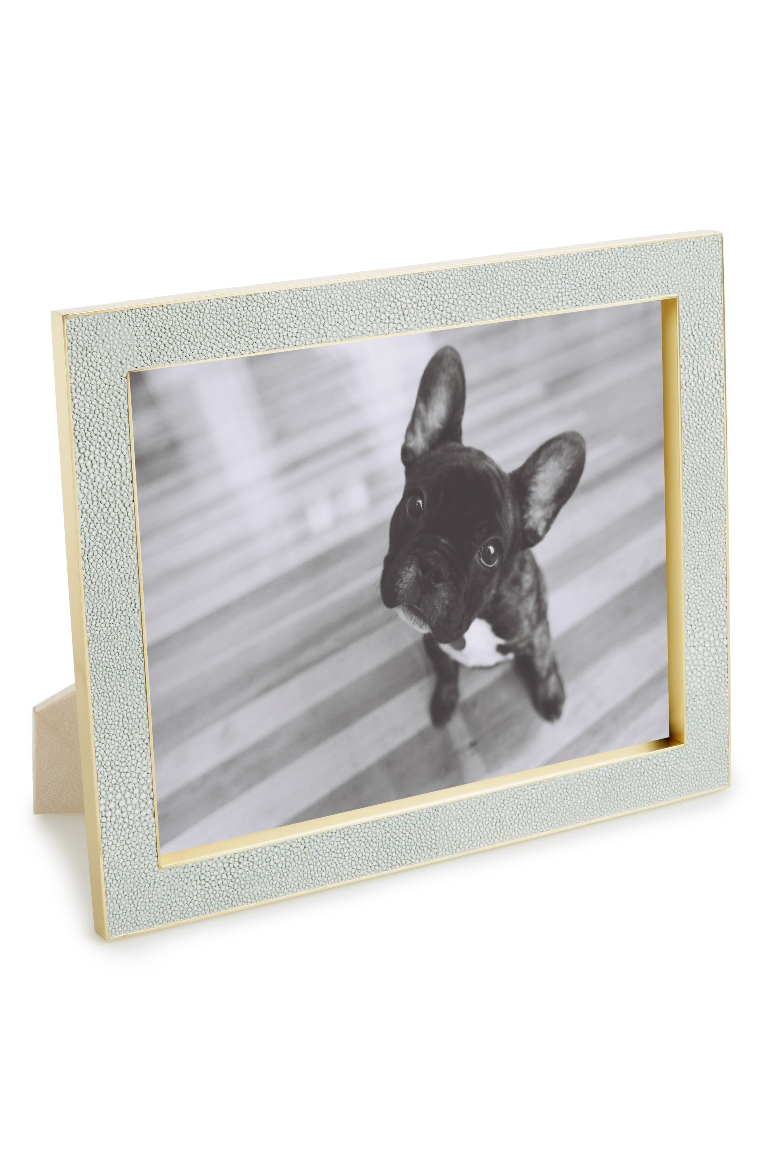 AERIN Classic Shagreen Picture Frame, Main, color, 400