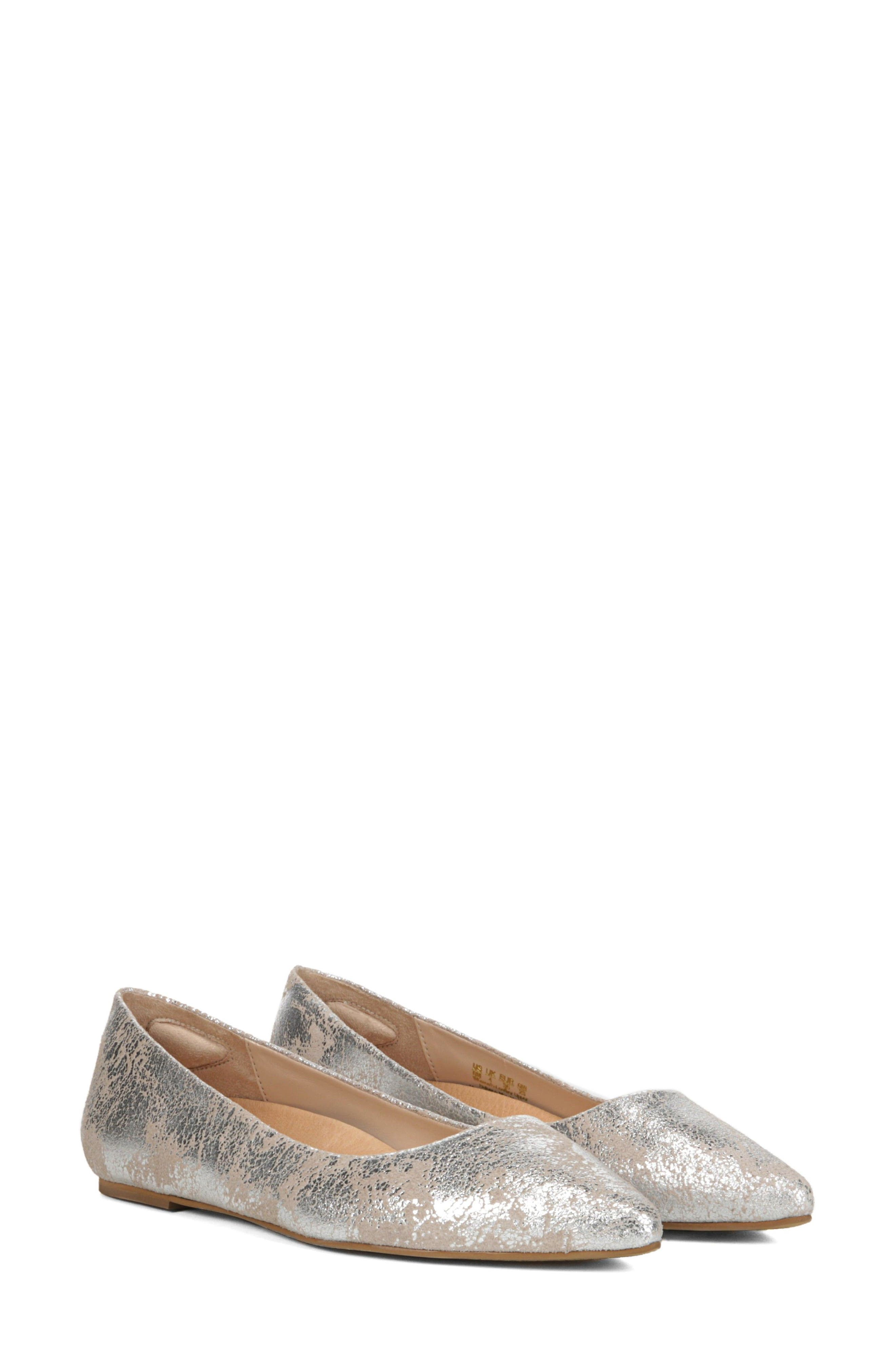 DR. SCHOLL'S, Original Collection Kimber Flat, Alternate thumbnail 8, color, PEWTER LEATHER
