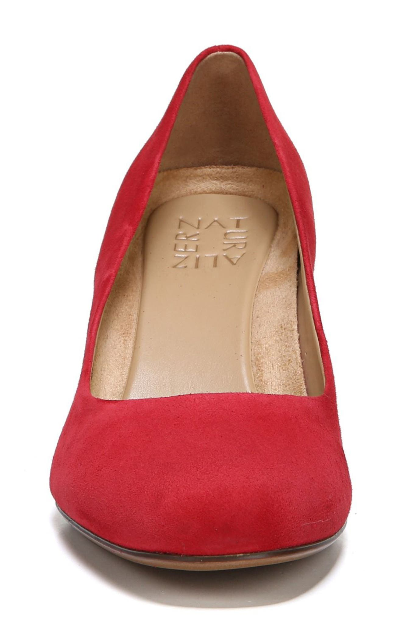NATURALIZER, Whitney Pump, Alternate thumbnail 4, color, HOT SAUCE SUEDE