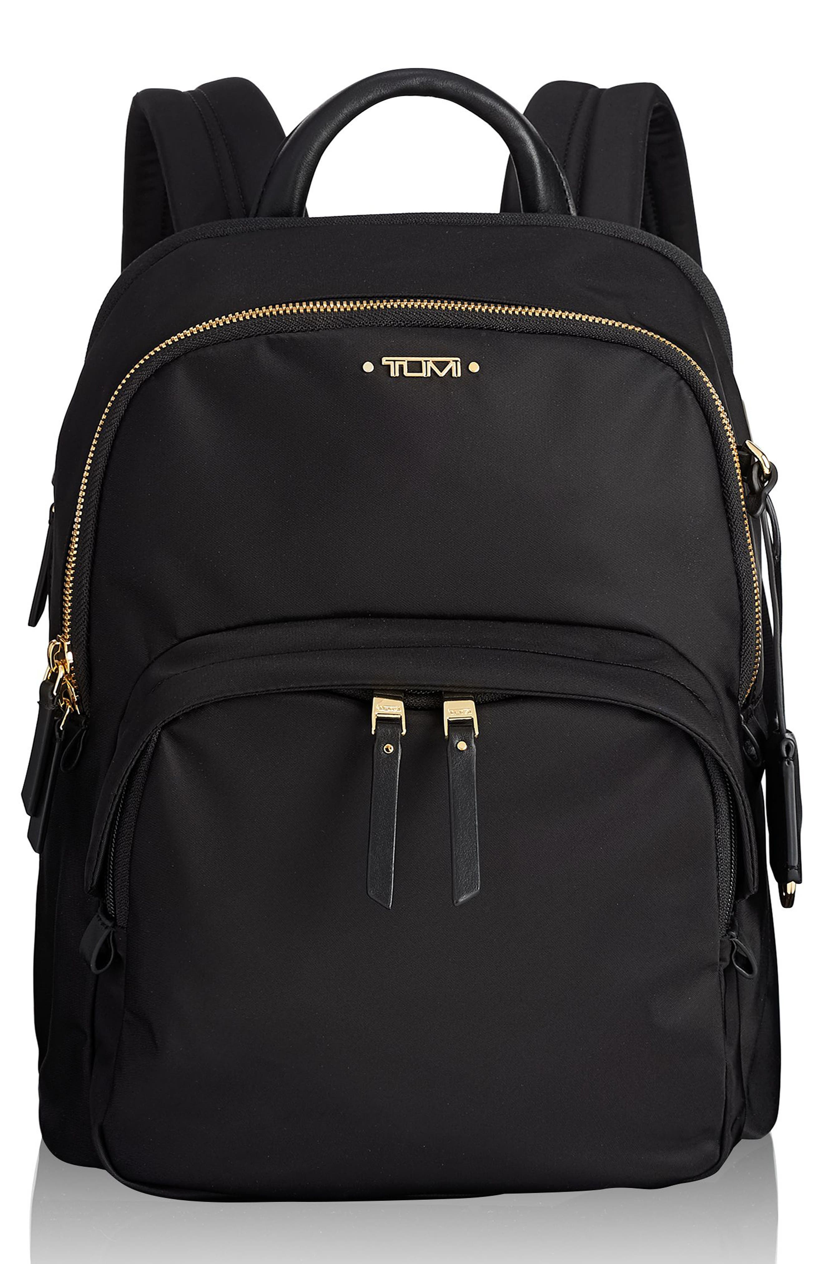 TUMI Voyageur Dori Nylon Backpack, Main, color, BLACK