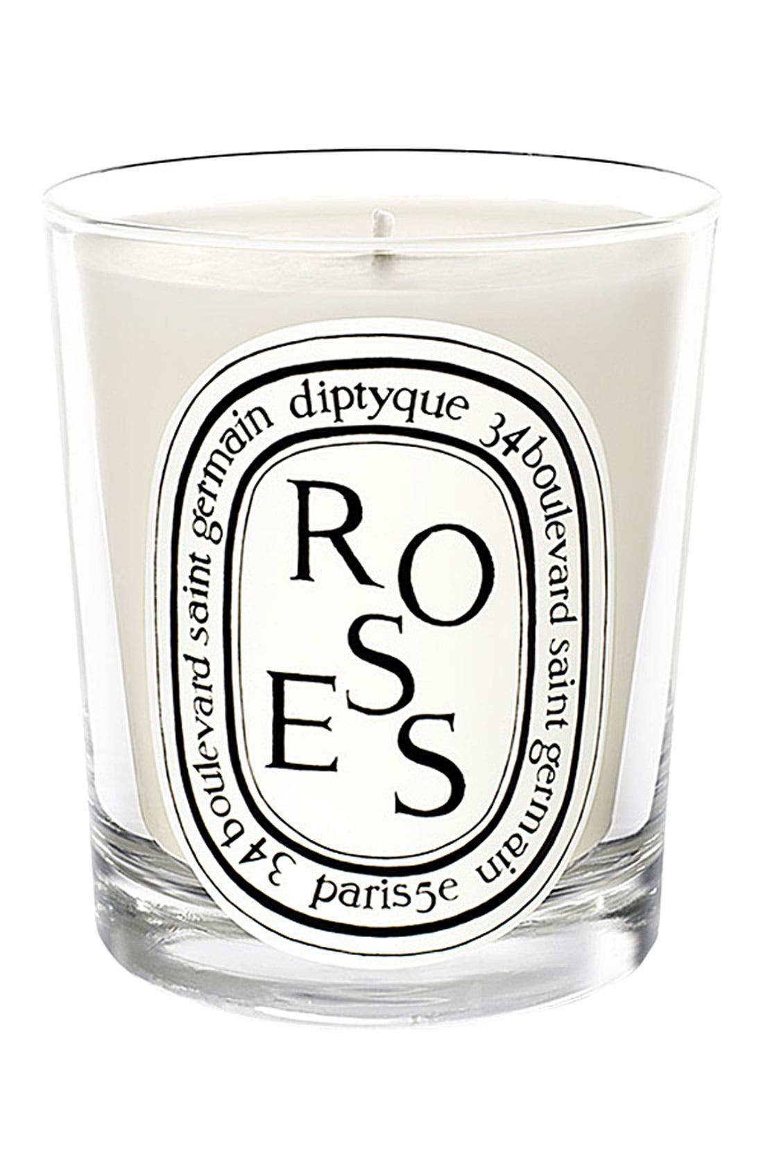 DIPTYQUE Roses Scented Candle, Main, color, NO COLOR