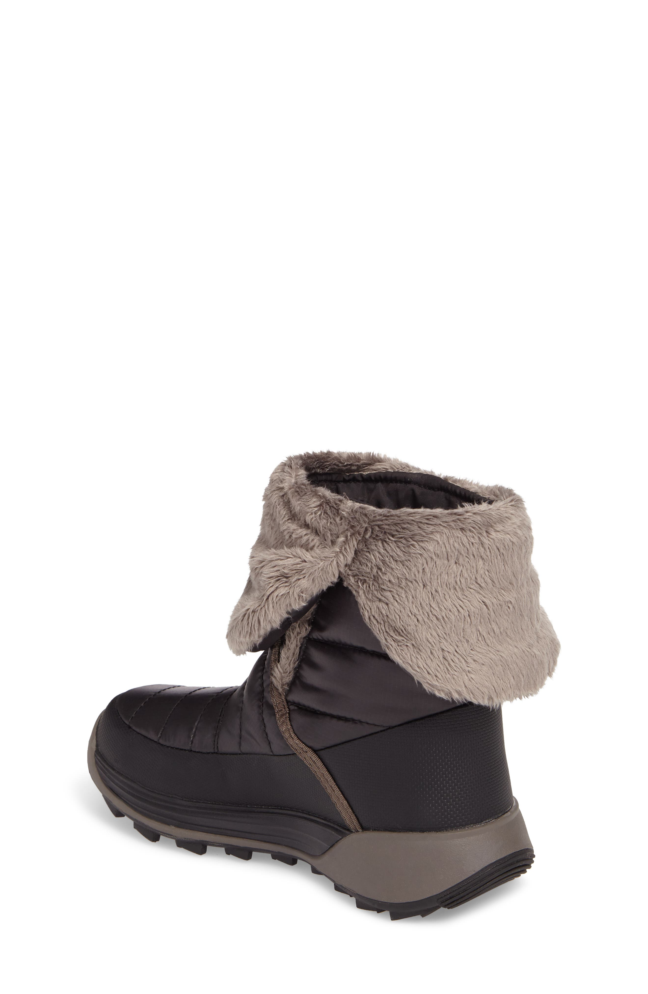 THE NORTH FACE, Amore II Water-Resistant Winter Boot, Alternate thumbnail 2, color, TNF BLACK/ DARK GULL GREY
