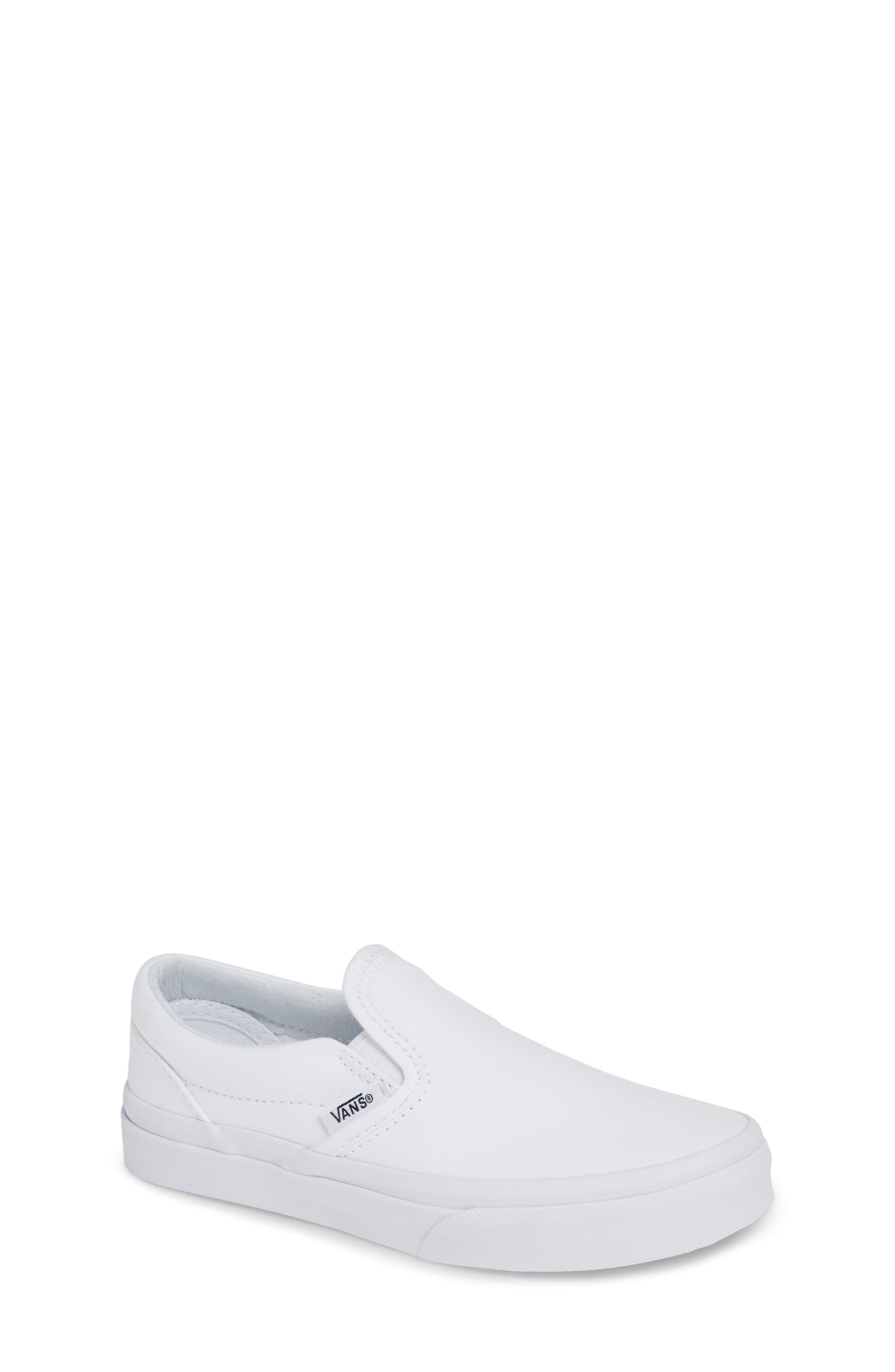 VANS 'Classic' Slip-On, Main, color, TRUE WHITE