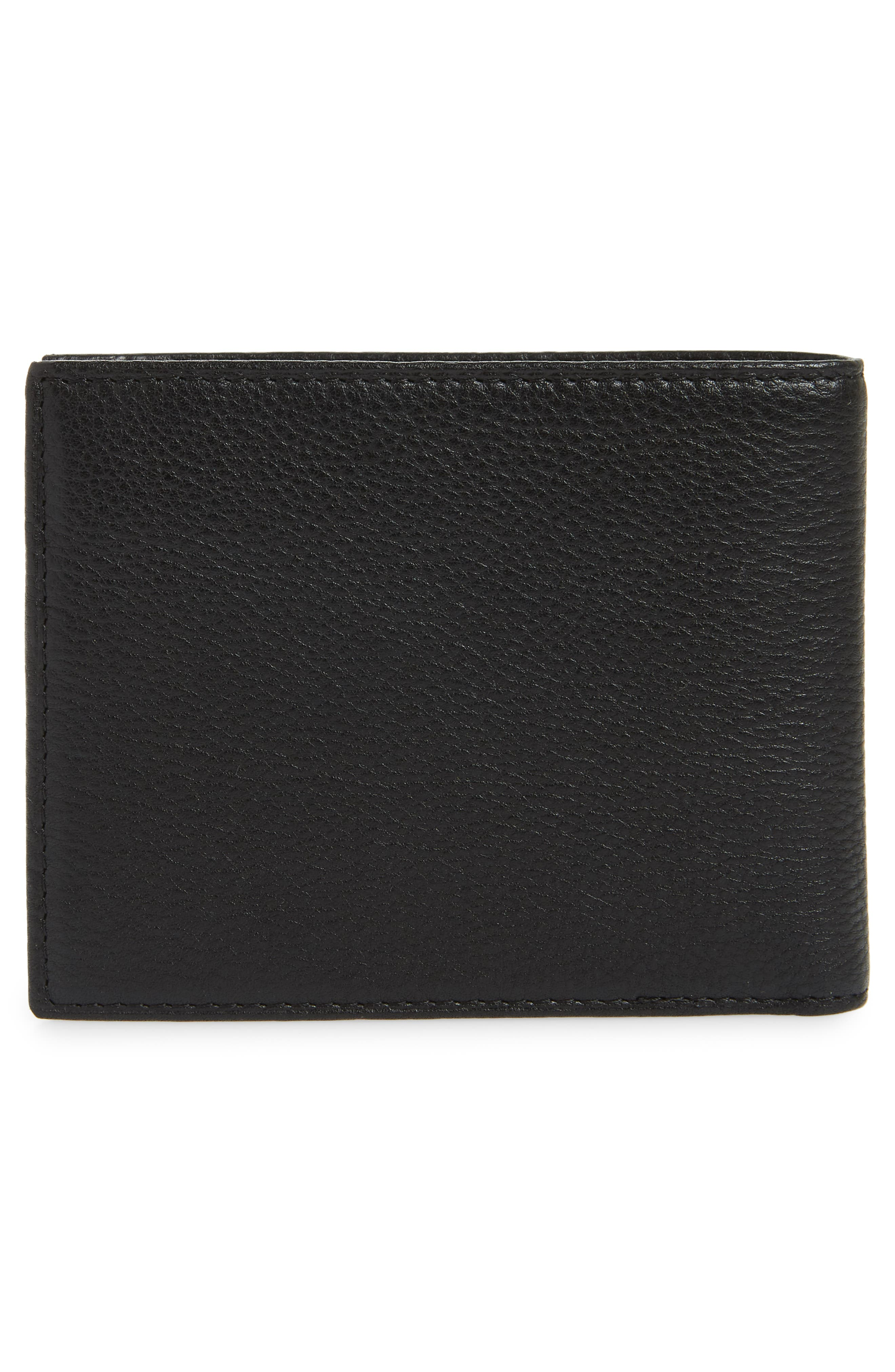 POLO RALPH LAUREN, Leather Passcase Wallet, Alternate thumbnail 3, color, BLACK
