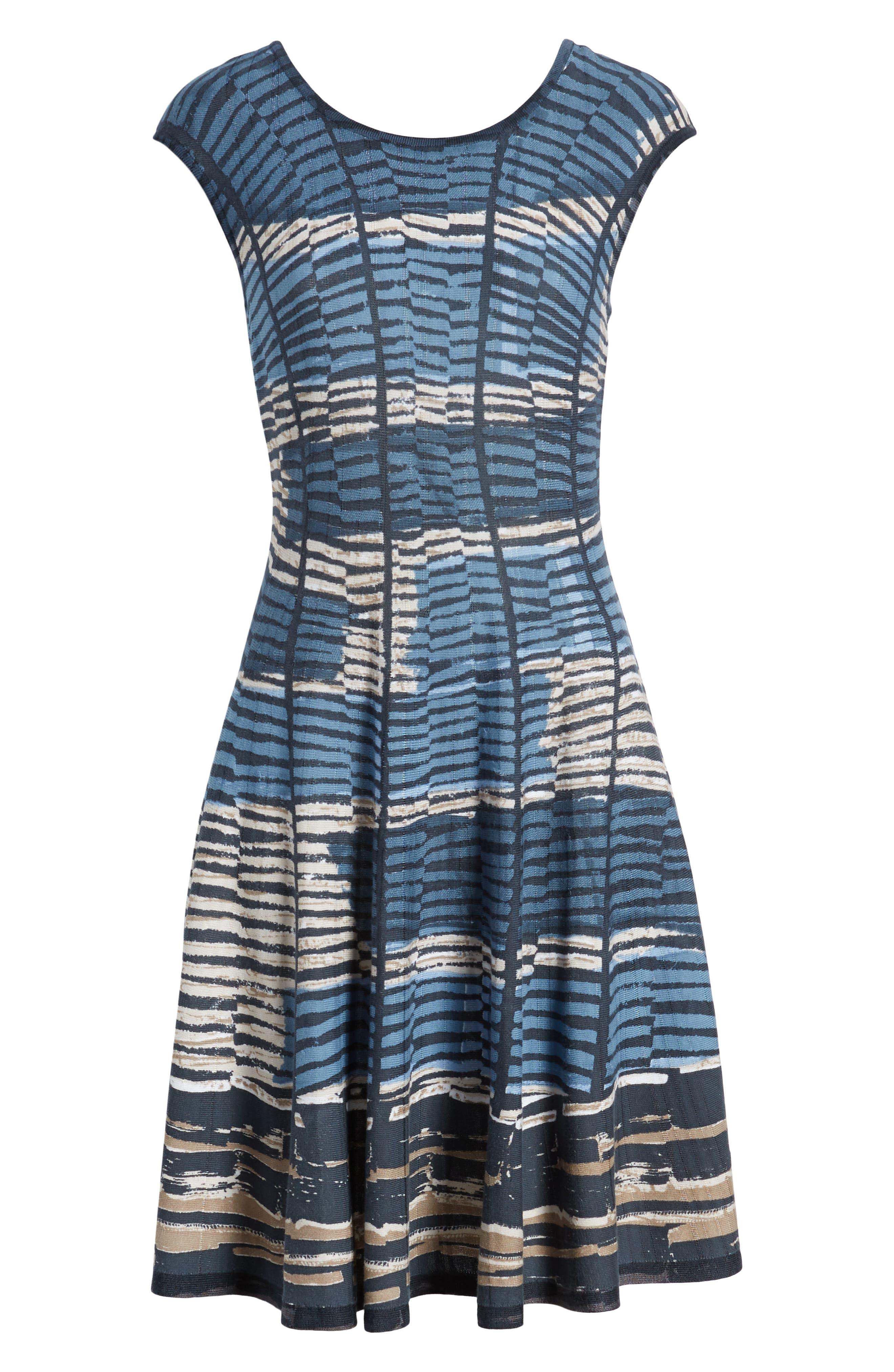 NIC+ZOE, Mesmerize Twirl Dress, Alternate thumbnail 7, color, MULTI