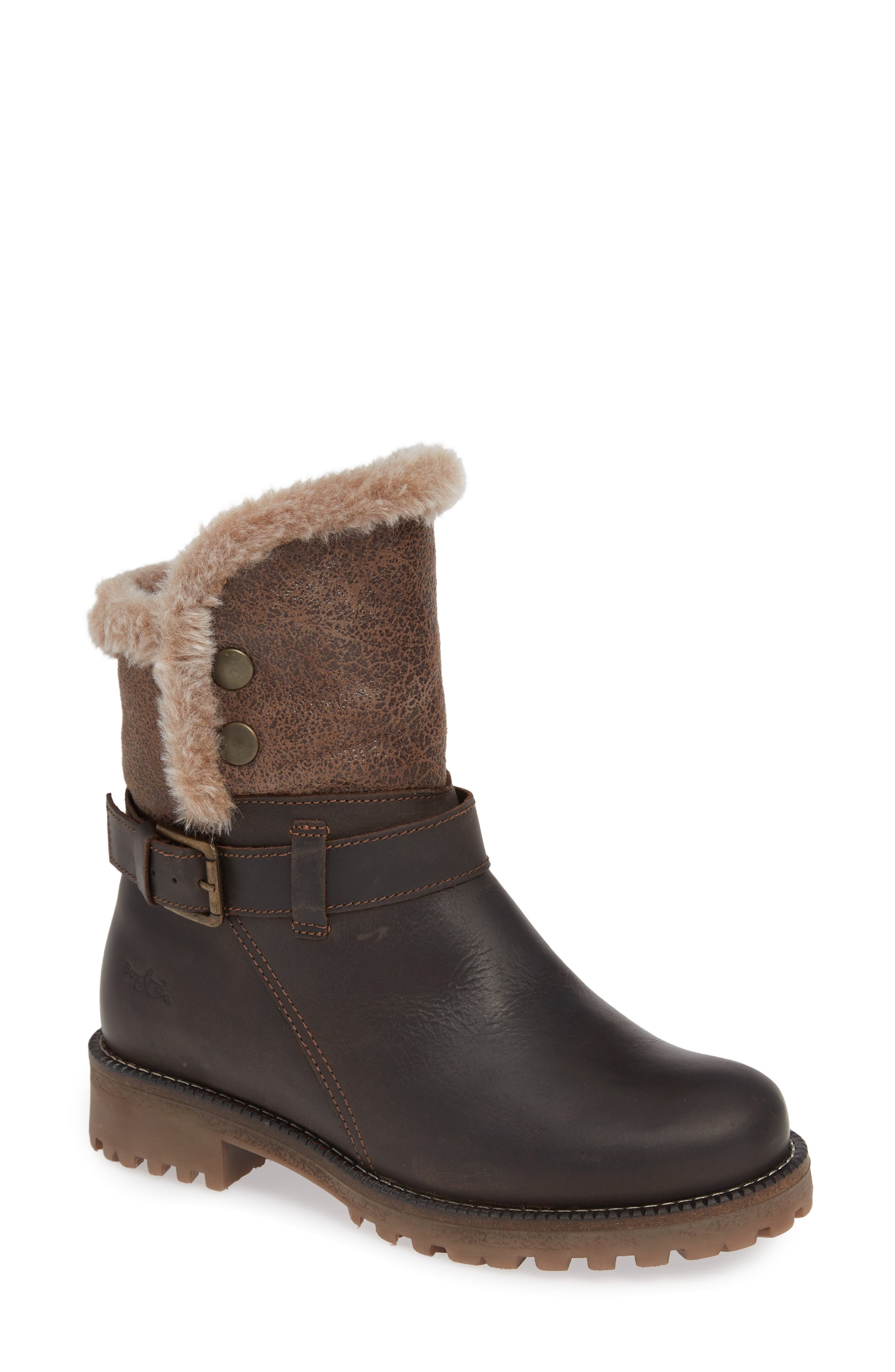Bos. & Co. Cluster Faux Shearling Waterproof Boot - Brown