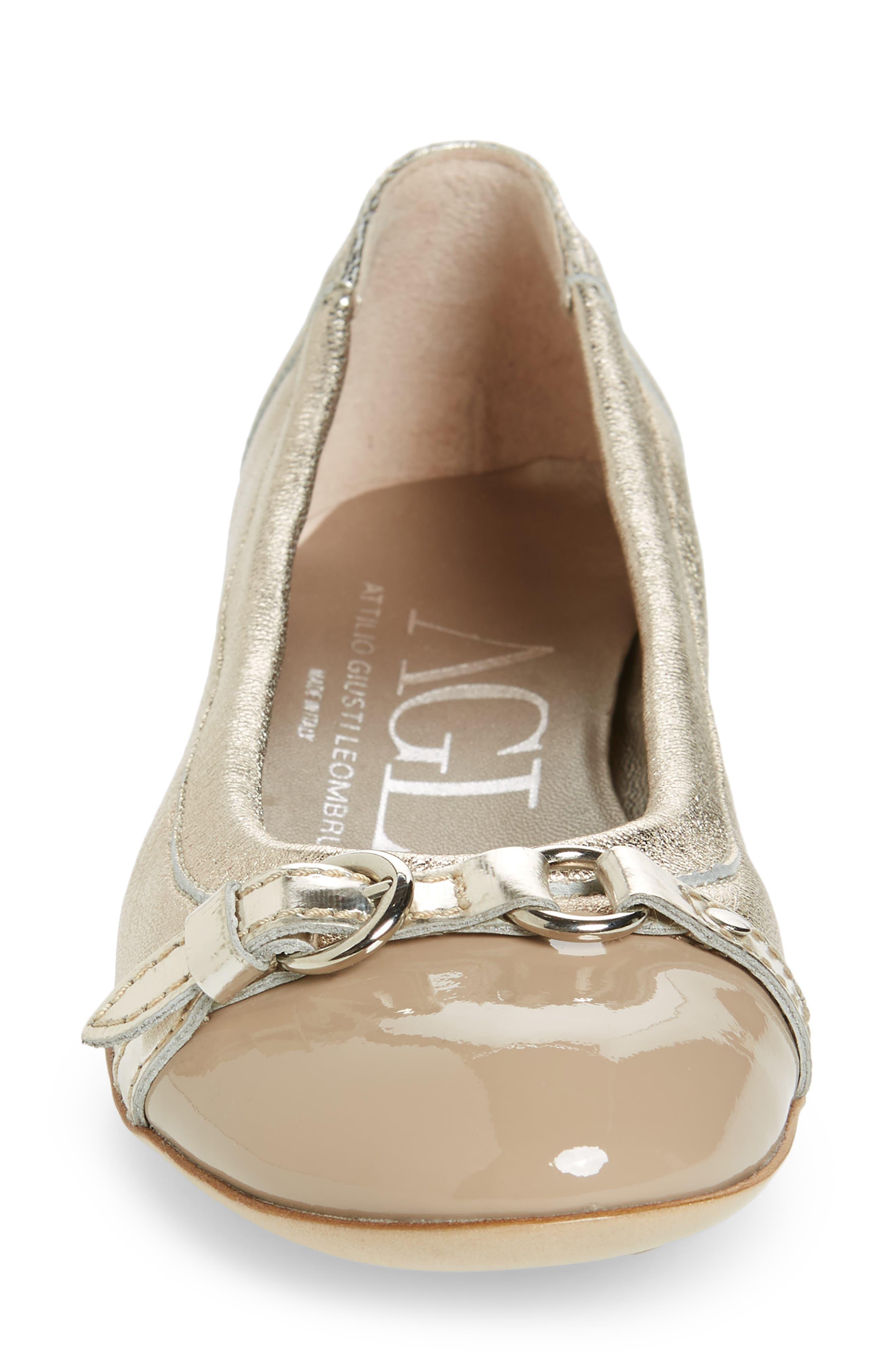 AGL, Cap Toe Ballet Flat, Alternate thumbnail 4, color, 021