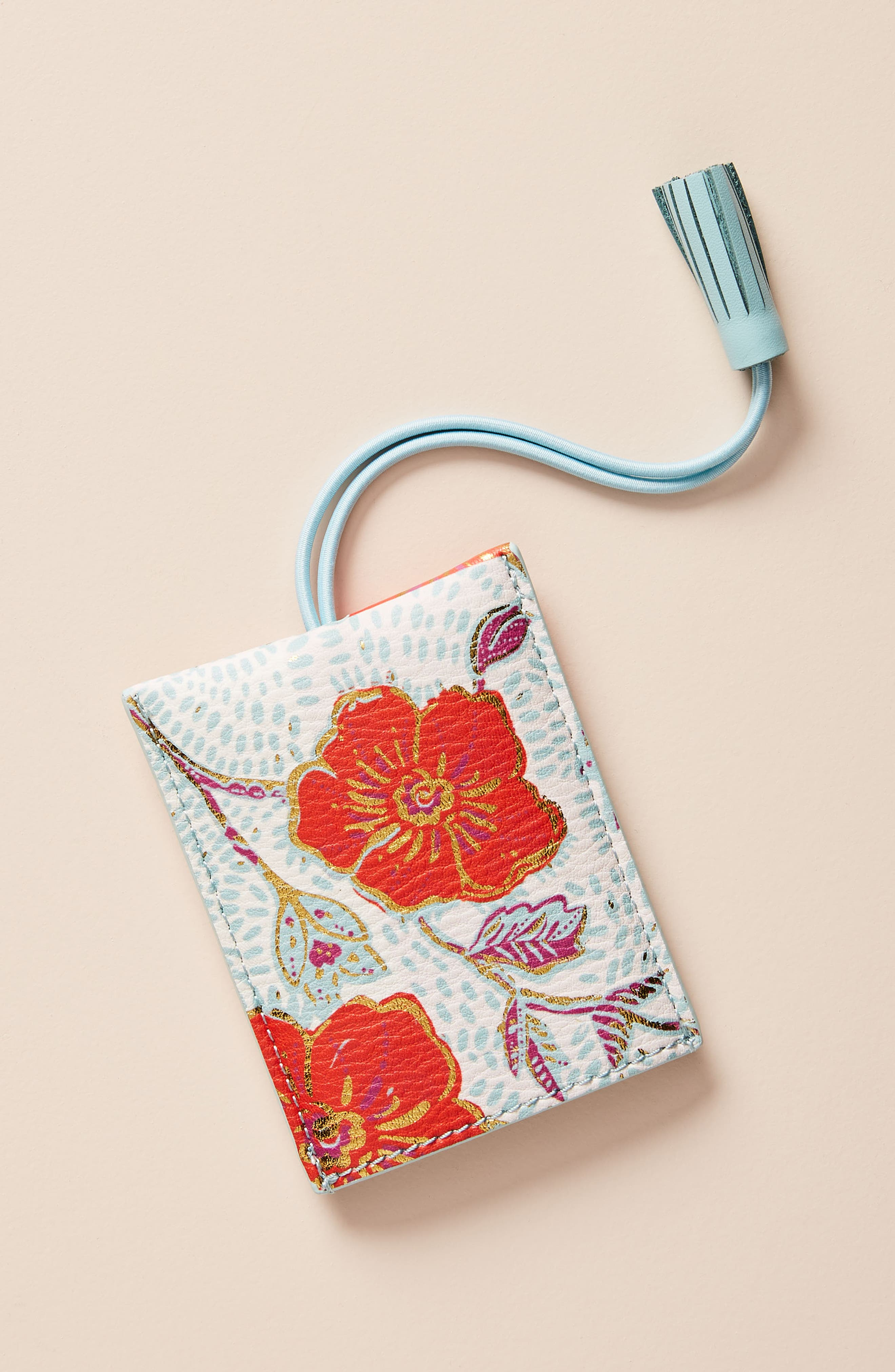 ANTHROPOLOGIE, Elodie Luggage Tag, Main thumbnail 1, color, WHITE