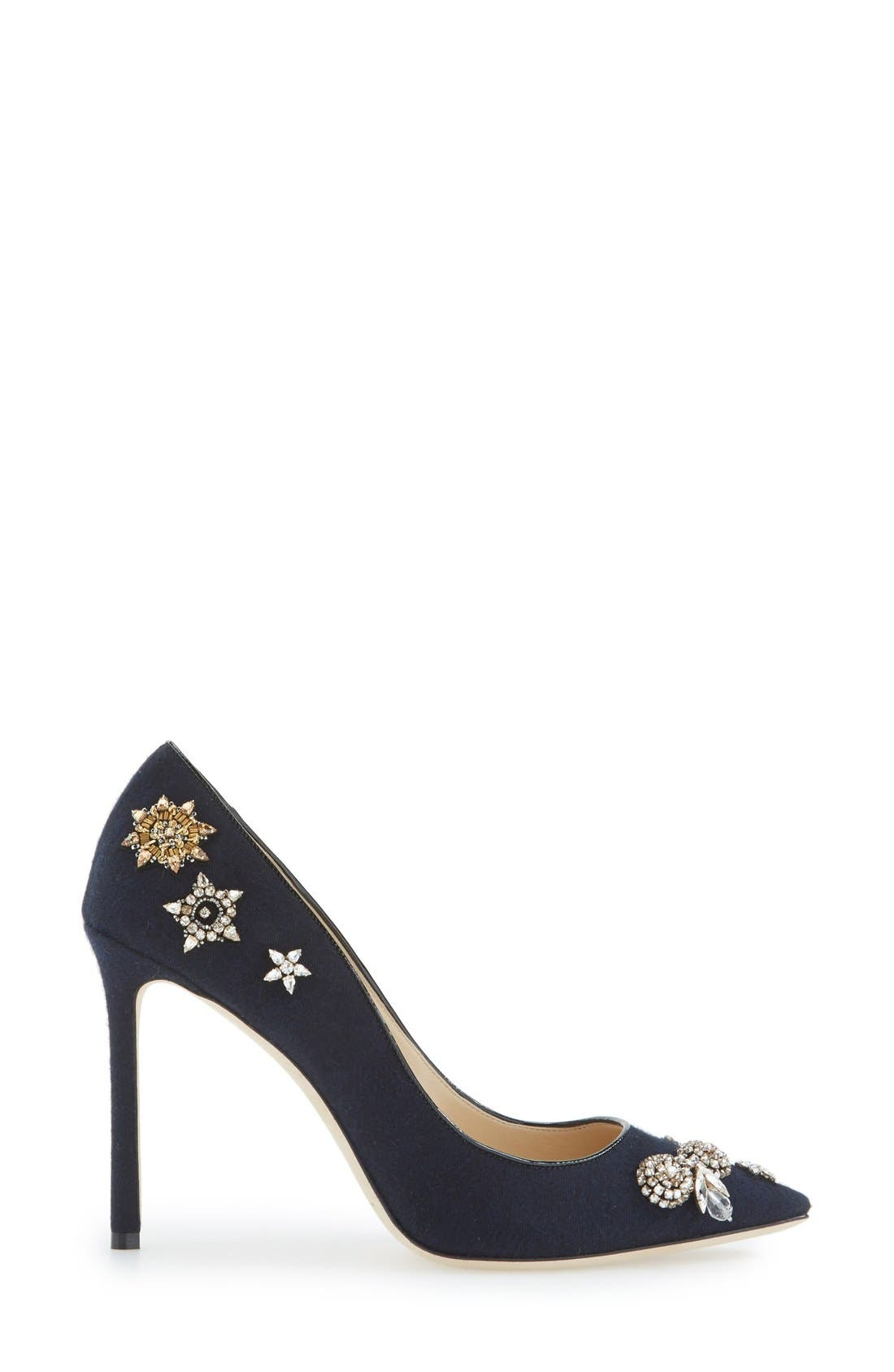 JIMMY CHOO, 'Romy' Pointy Toe Pump, Alternate thumbnail 2, color, 400
